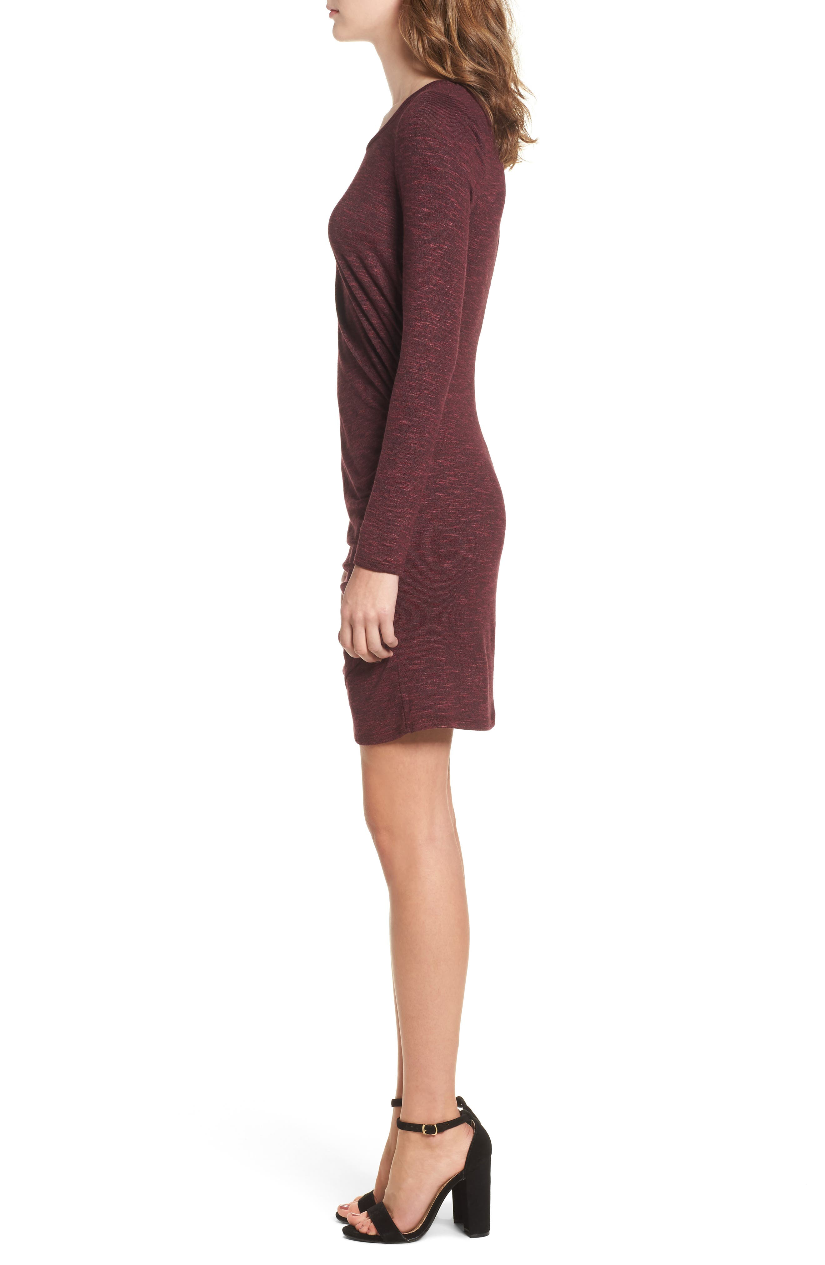 Ruched Knit Dress,                             Alternate thumbnail 6, color,