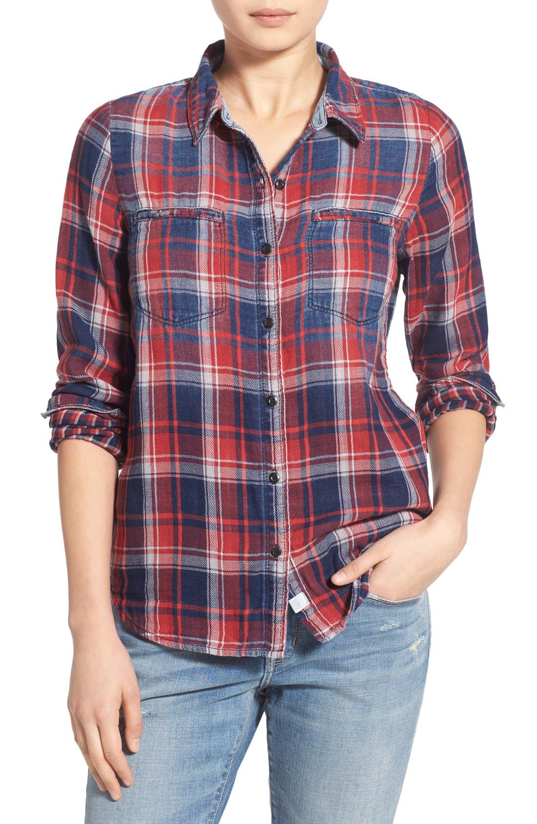 Treasure&Bond Classic Fit Plaid Shirt,                             Main thumbnail 1, color,                             400