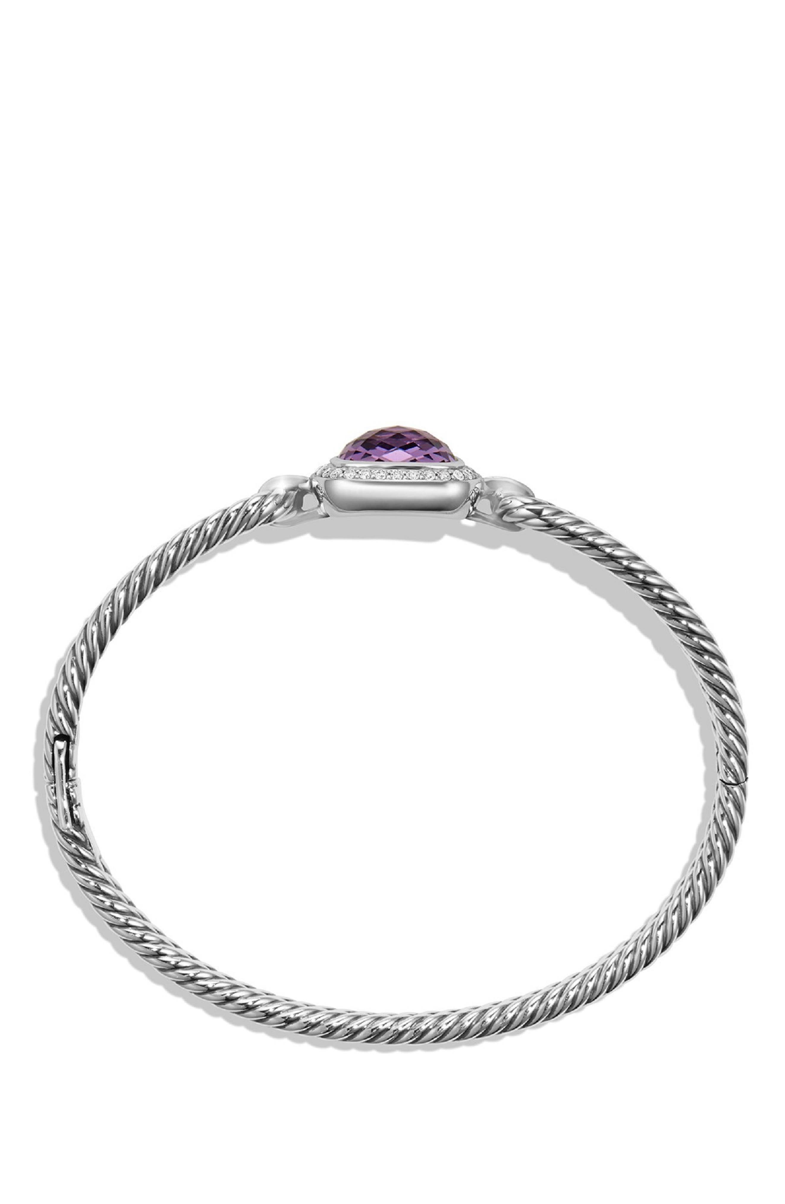 'Albion' Bracelet with Semiprecious Stone and Diamonds,                             Alternate thumbnail 2, color,                             AMETHYST