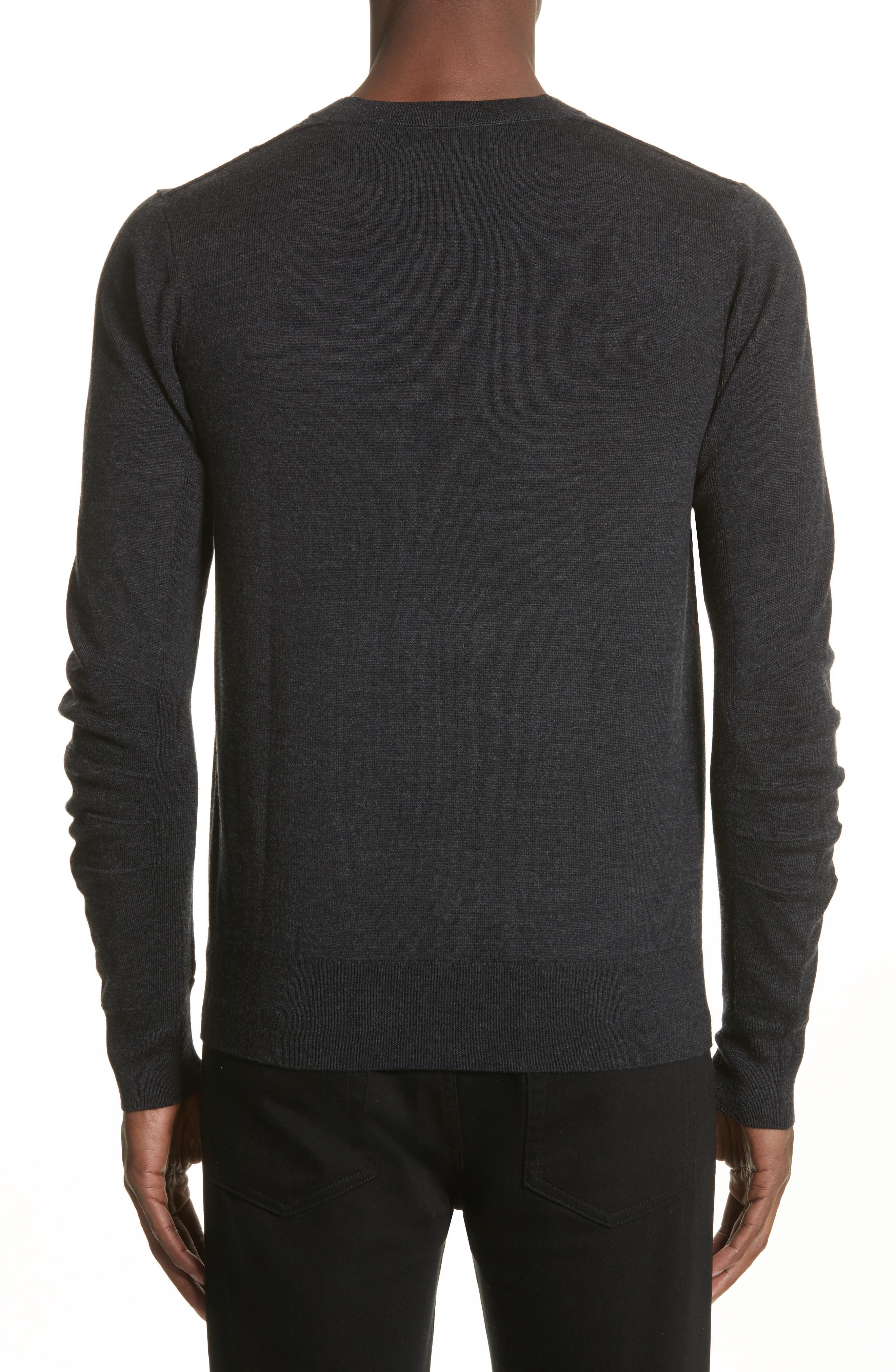 Carter Merino Wool Crewneck Sweater,                             Alternate thumbnail 5, color,