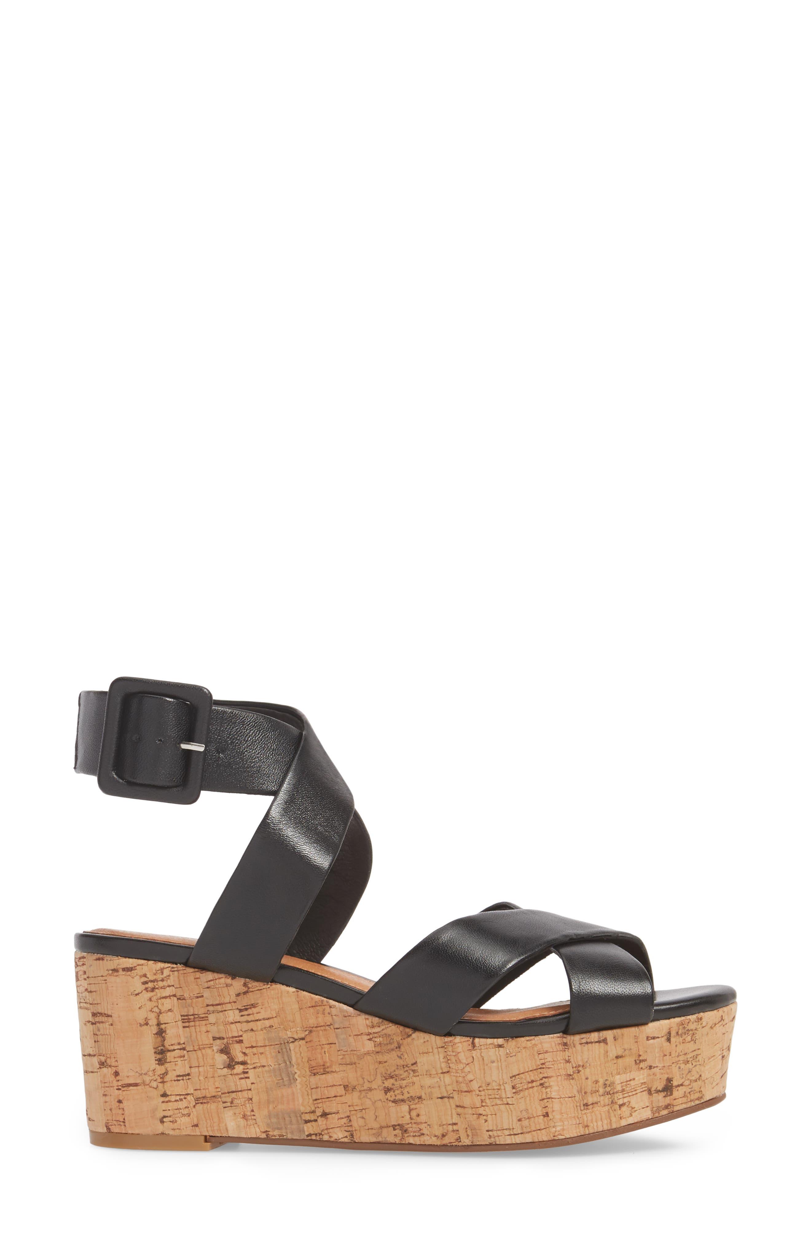 Evie Platform Wedge Sandal,                             Alternate thumbnail 5, color,