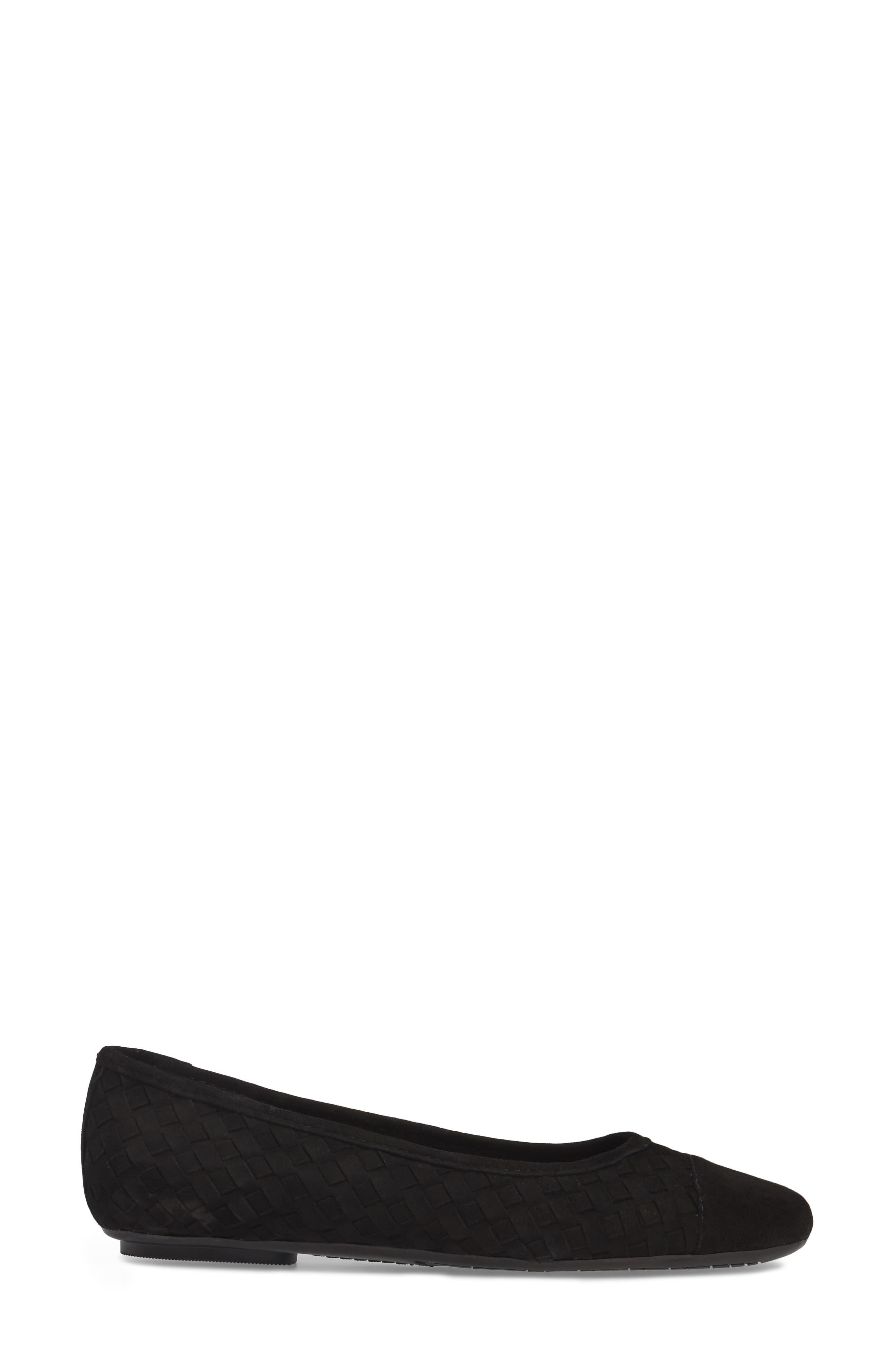 Shera Woven Skimmer Flat,                             Alternate thumbnail 3, color,                             001