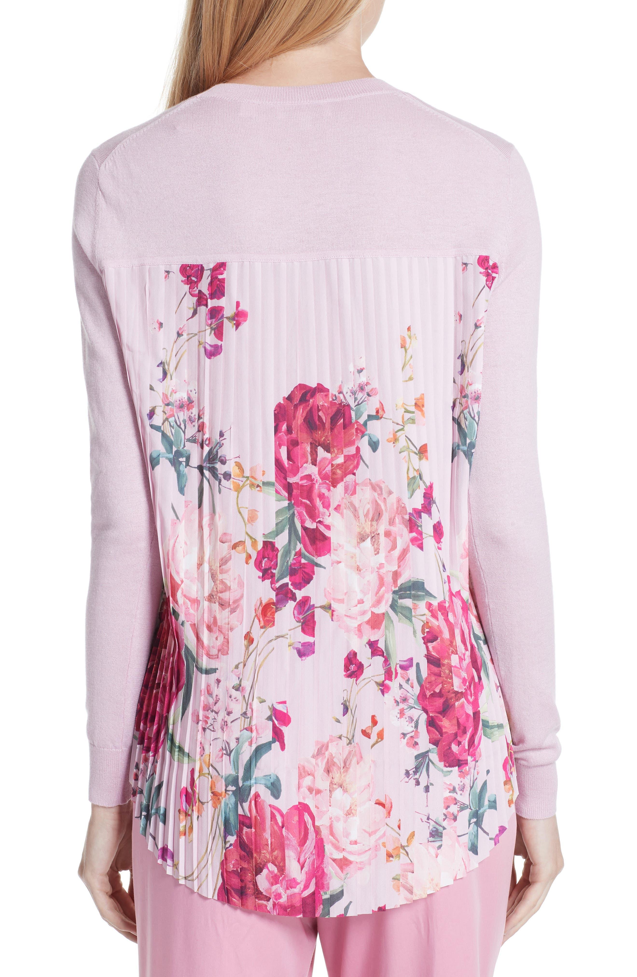 Kaleese Serenity Pleat Back Silk Cotton Sweater,                             Alternate thumbnail 2, color,                             531