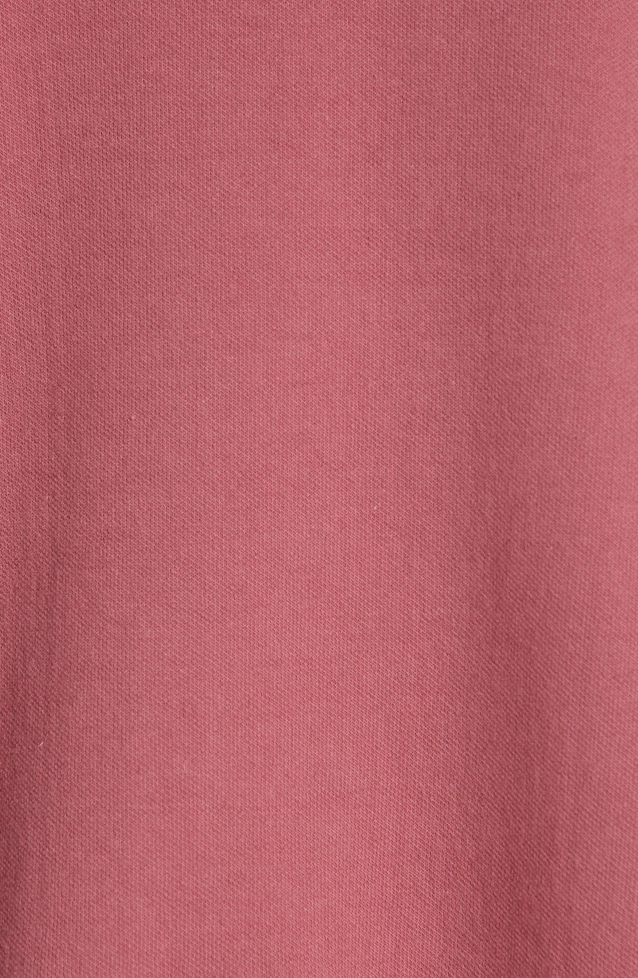 Unbalanced Sweatshirt,                             Alternate thumbnail 5, color,                             BURGUNDY