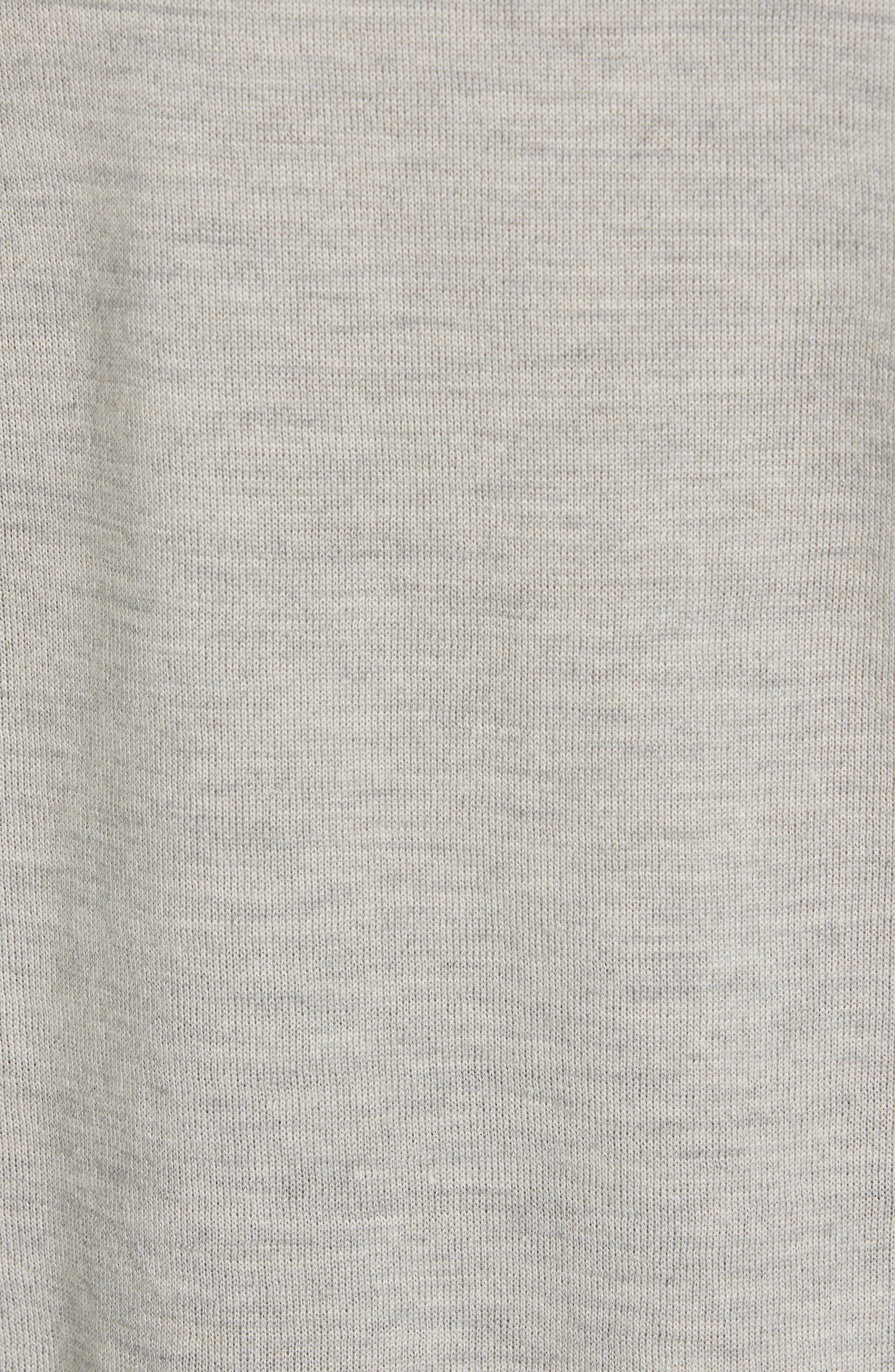 POLO RALPH LAUREN,                             V-Neck Wool, Silk & Cashmere Sweater,                             Alternate thumbnail 5, color,                             LIGHT VINTAGE HEATHER