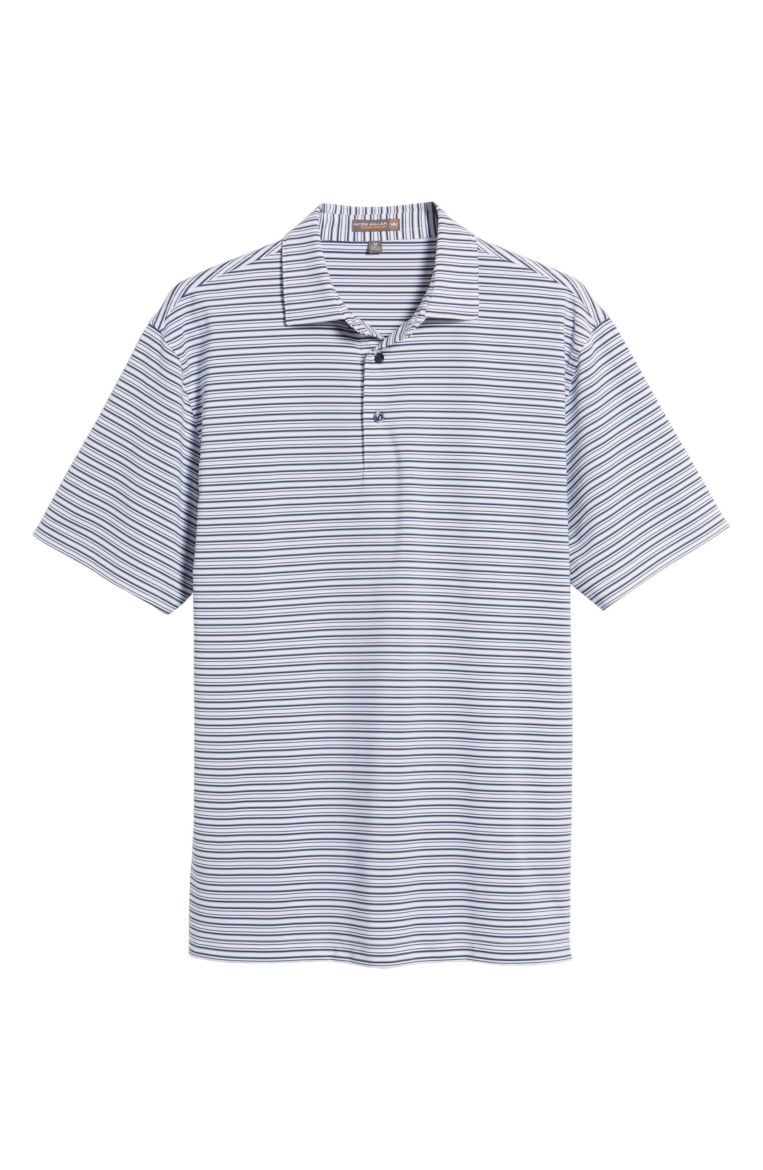 Barron Sean Stripe Jersey Polo,                             Alternate thumbnail 6, color,                             100