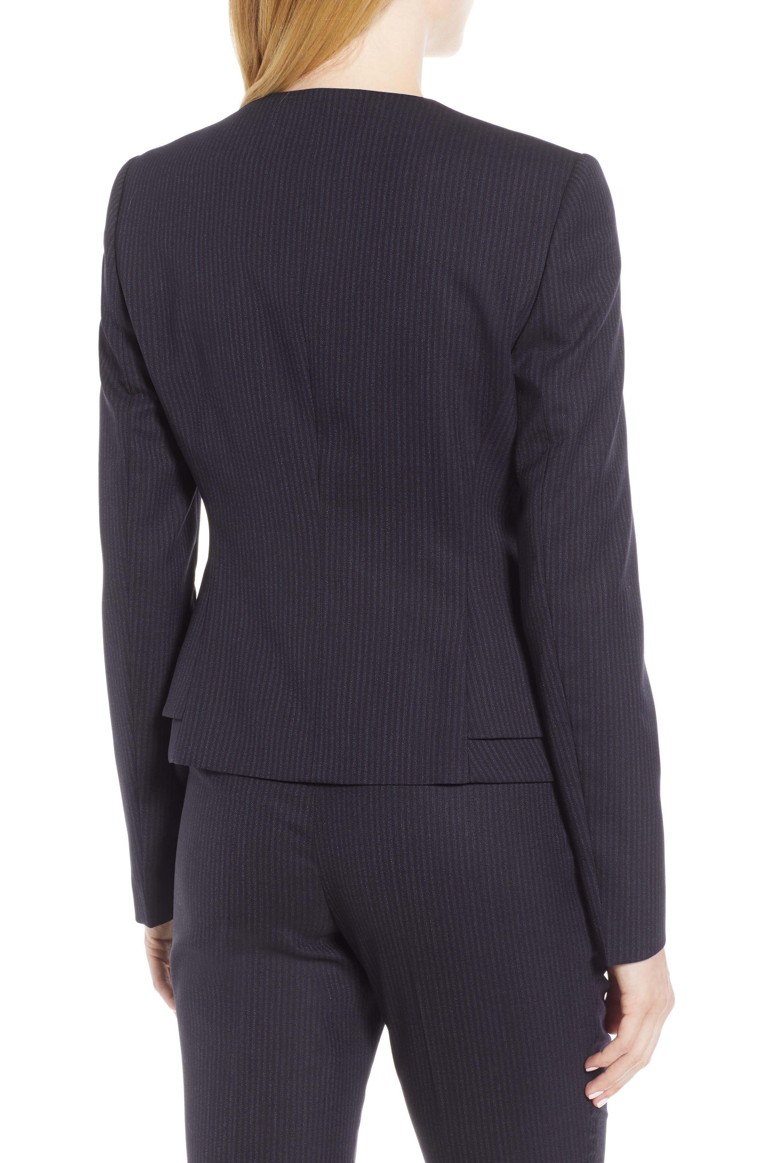 Jasyma Tonal Stripe Stretch Wool Suit Jacket,                             Alternate thumbnail 2, color,                             NAVY FANTASY