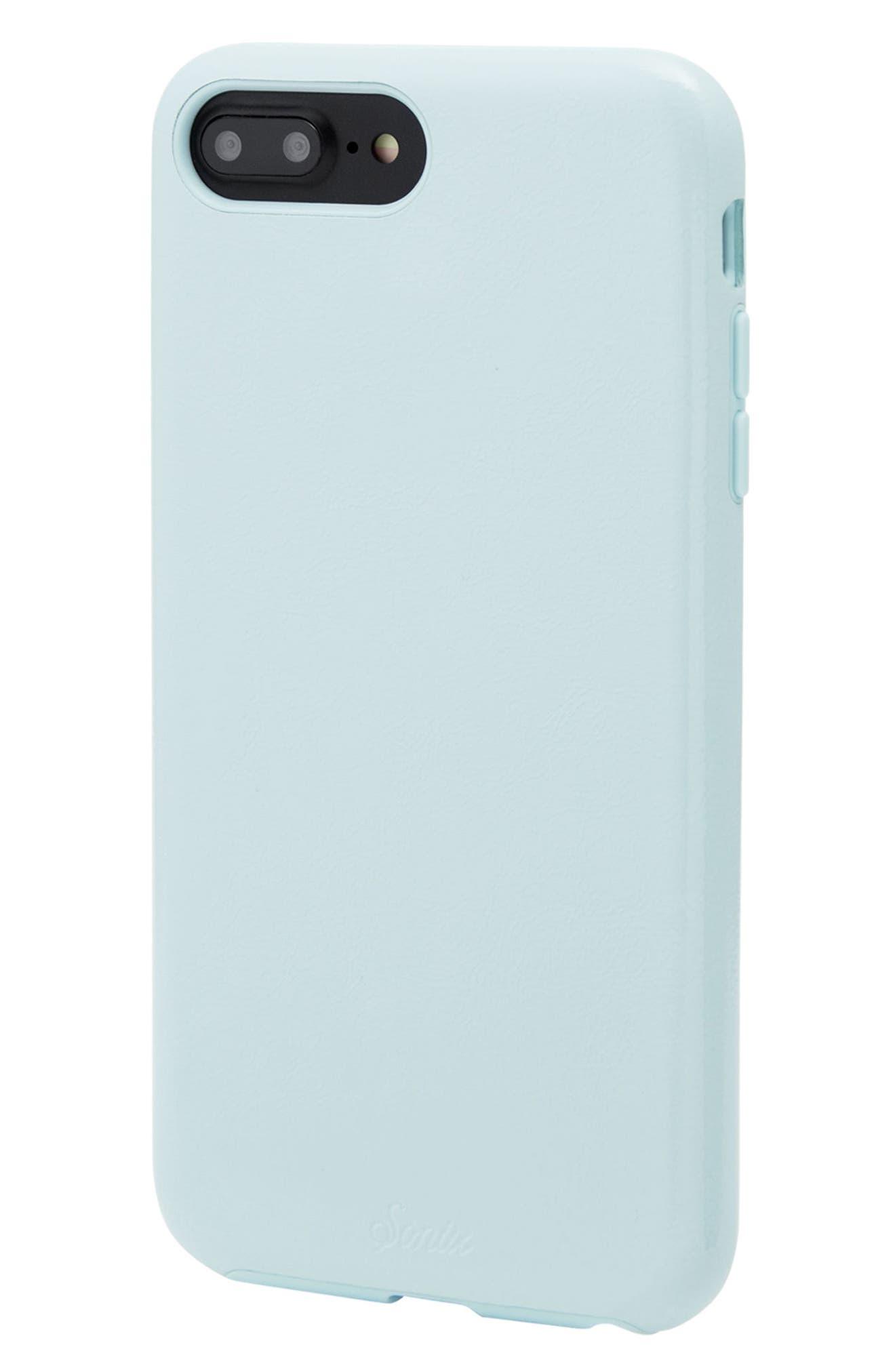 Cherry Faux Leather iPhone 6/6s/7/8 Plus Case,                             Alternate thumbnail 8, color,