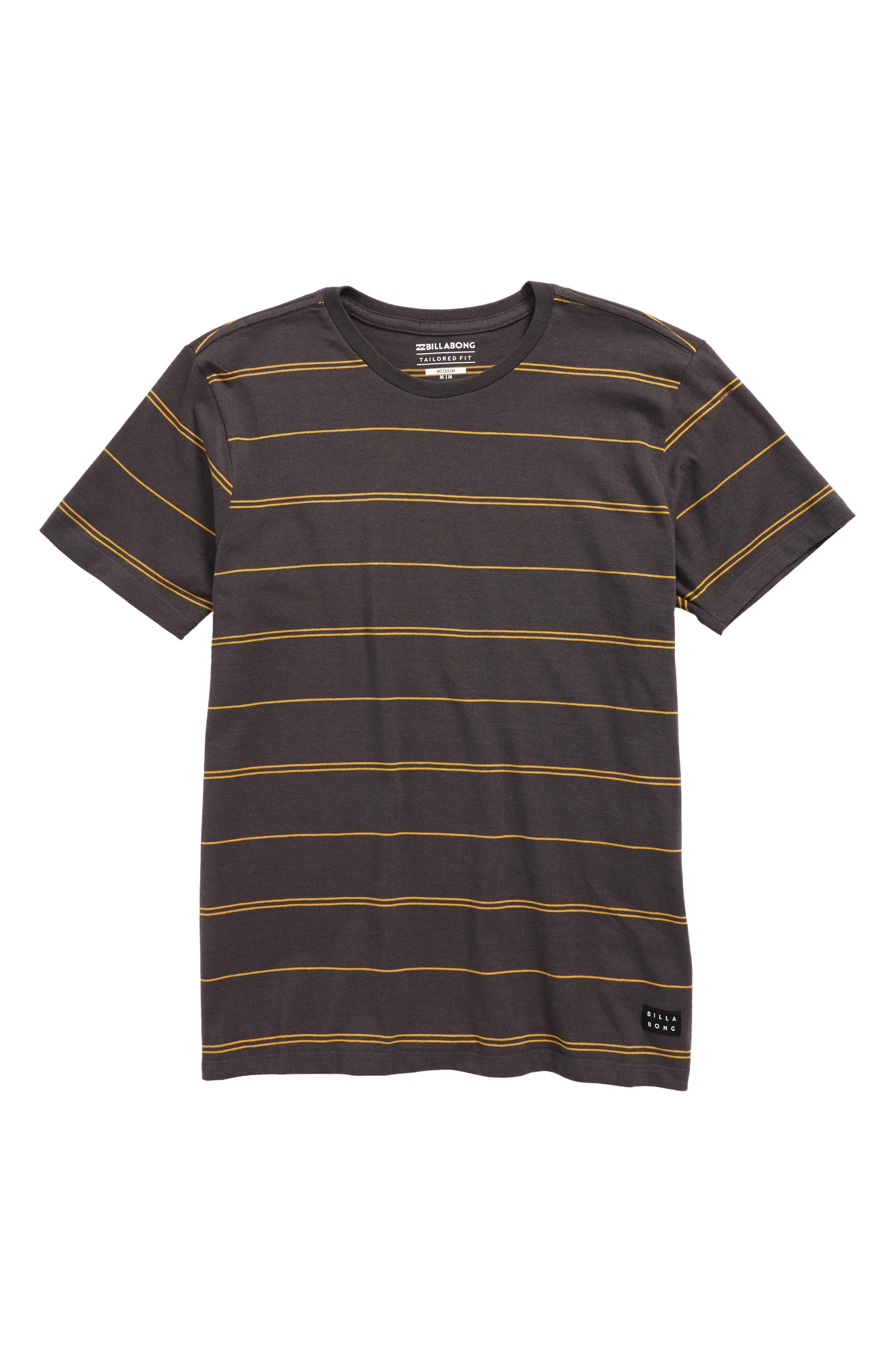 Die Cut Stripe Ringer T-Shirt,                             Main thumbnail 2, color,