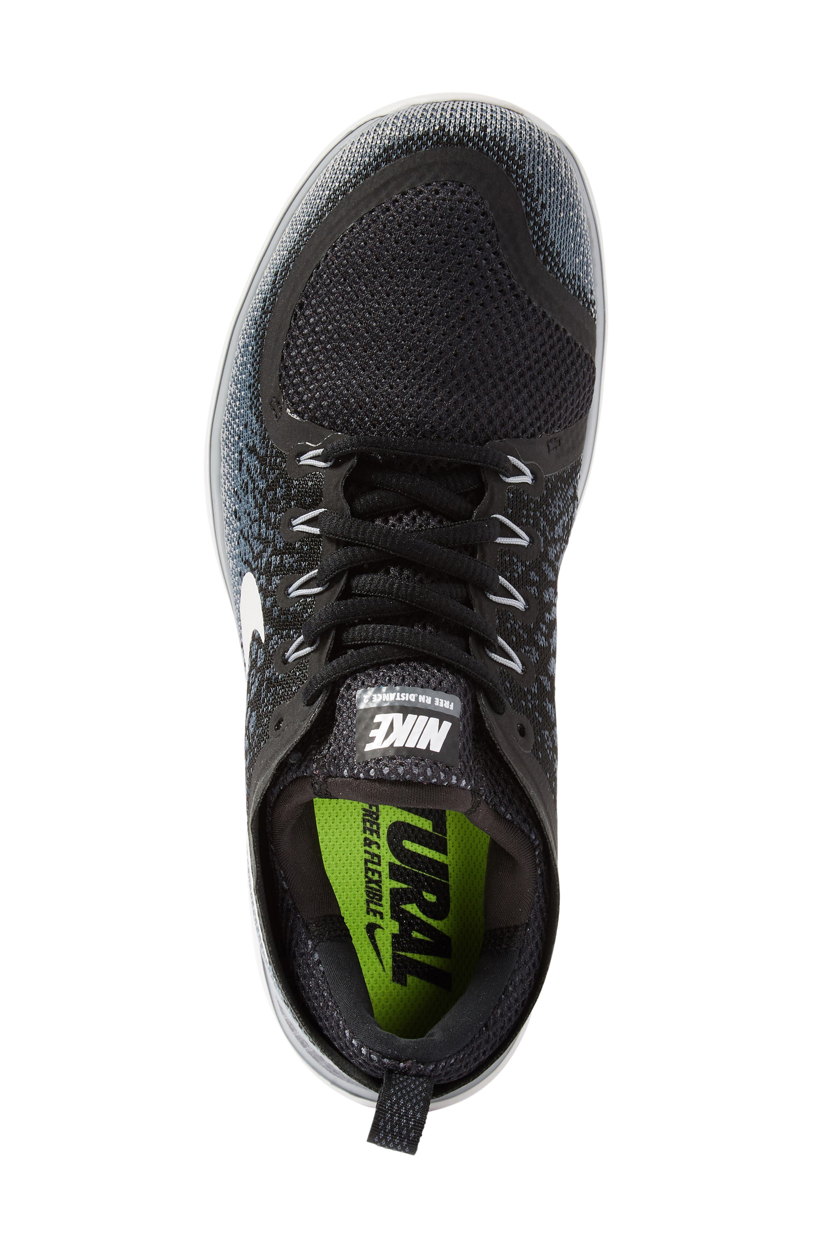 Free Run Distance 2 Running Shoe,                             Alternate thumbnail 5, color,                             001