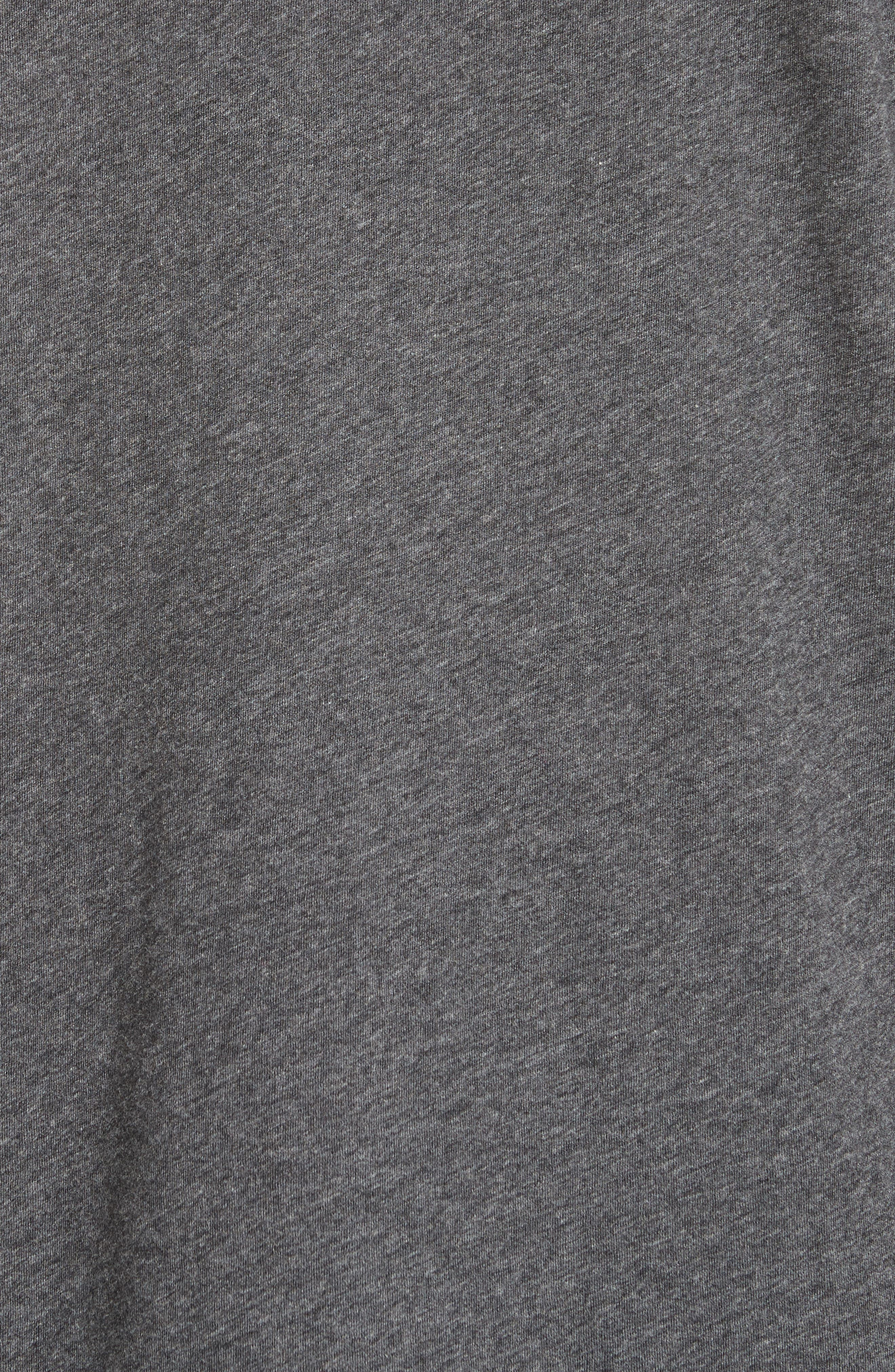 Cotton Crewneck,                             Alternate thumbnail 5, color,                             CHARCOAL