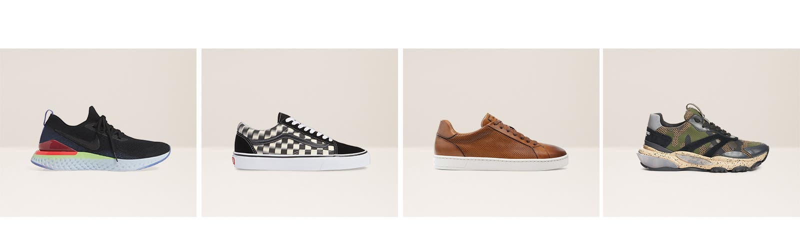 Get your kicks: men's sneakers.