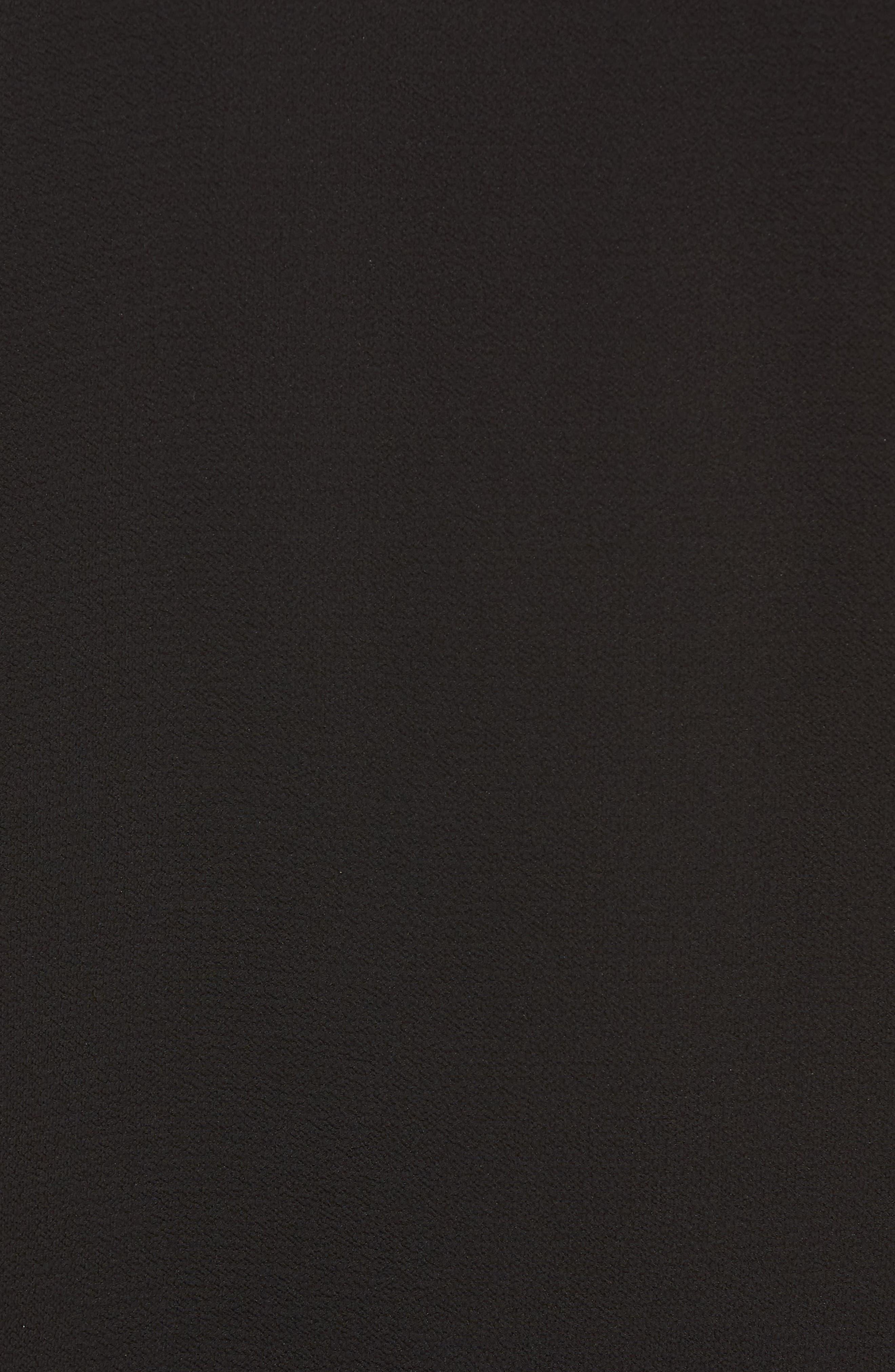 Sequin Ruffle Top,                             Alternate thumbnail 5, color,                             BLACK