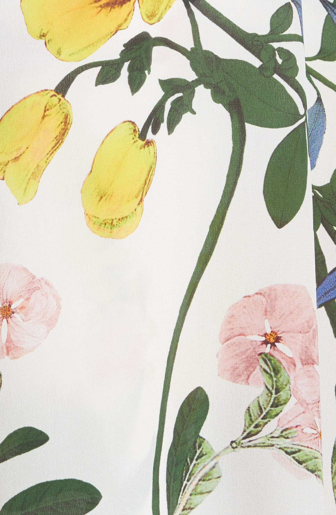 Joeann Asymmetrical Floral Silk Skirt,                             Alternate thumbnail 5, color,                             178