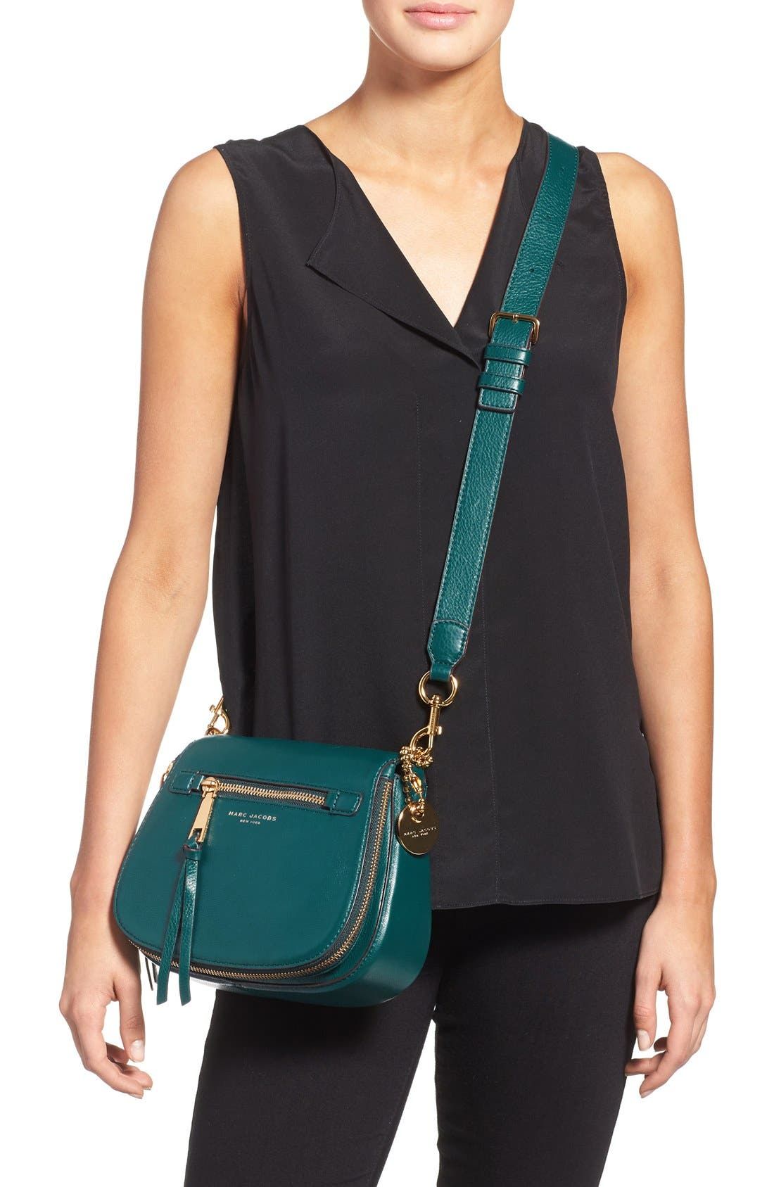 Small Recruit Nomad Pebbled Leather Crossbody Bag,                             Alternate thumbnail 23, color,