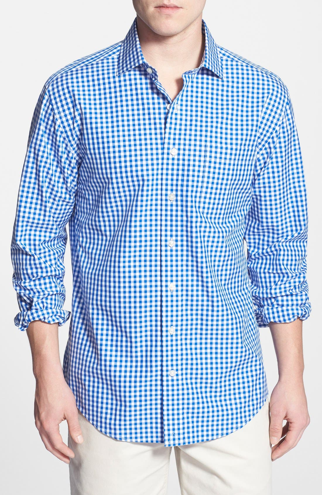 'Cooper' Classic Fit Gingham Sport Shirt, Main, color, 438