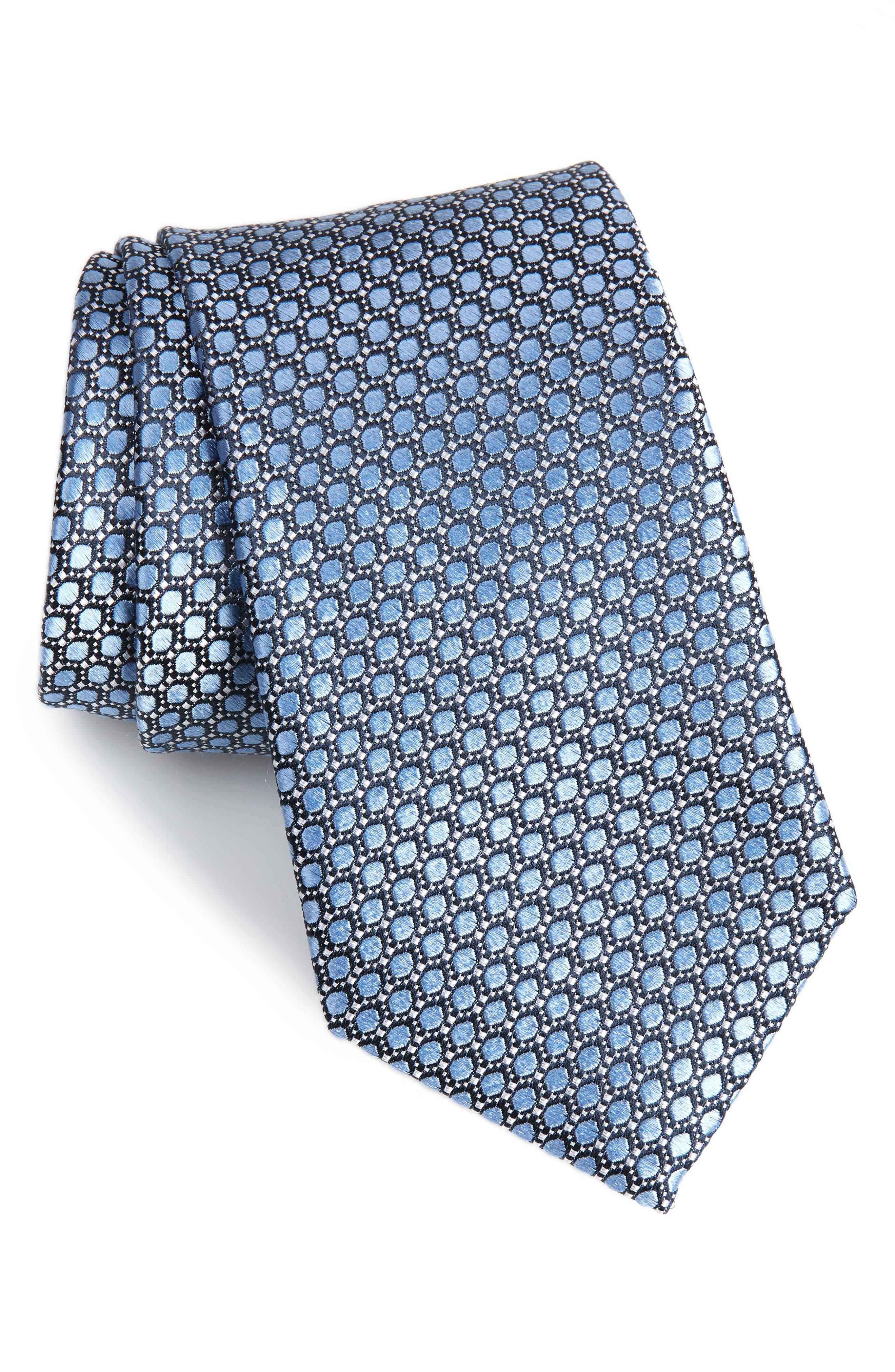 Bassini Geometric Tie,                             Main thumbnail 1, color,