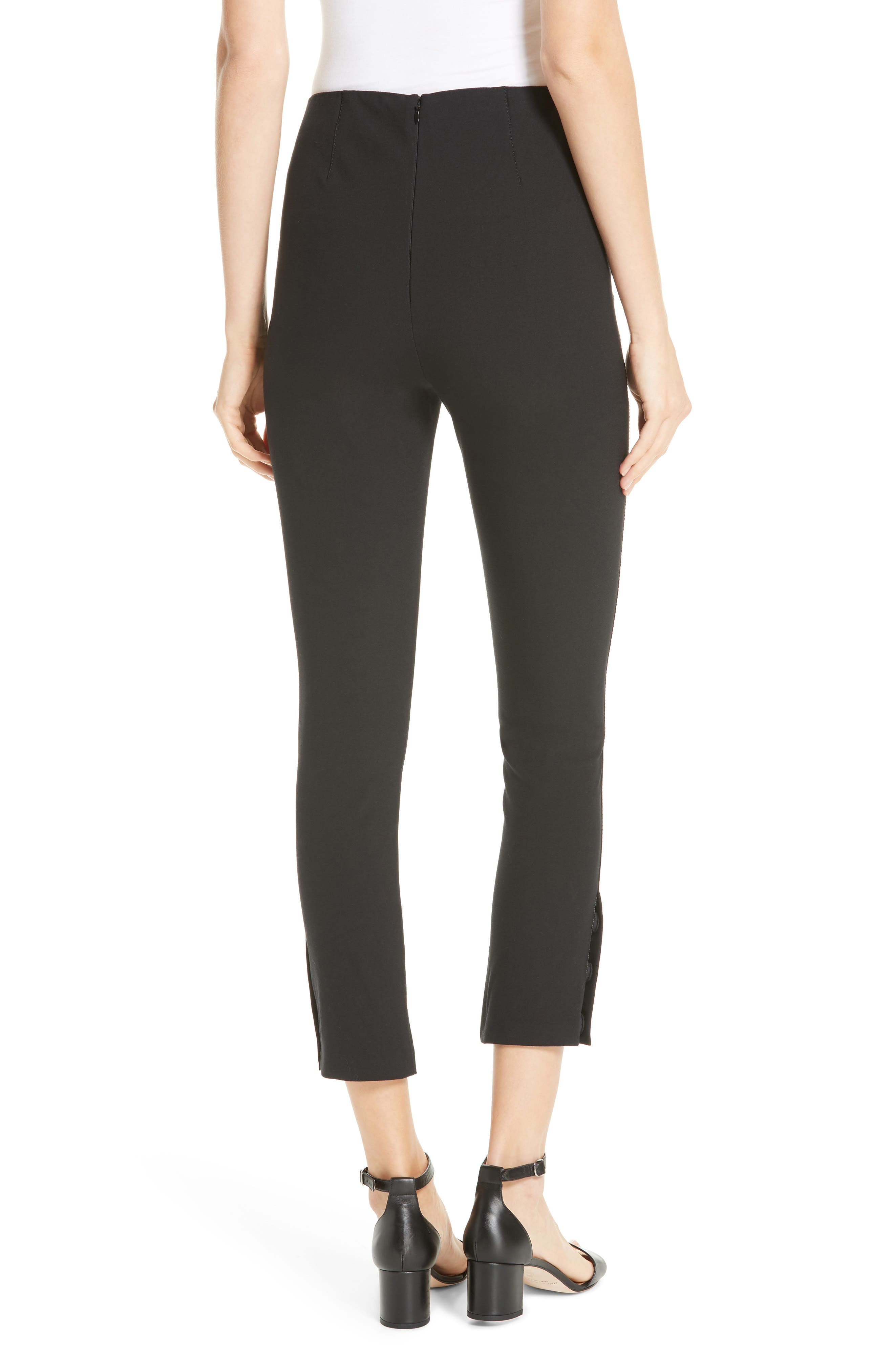DEREK LAM 10 CROSBY,                             Sullivan Leggings,                             Alternate thumbnail 2, color,                             BLACK