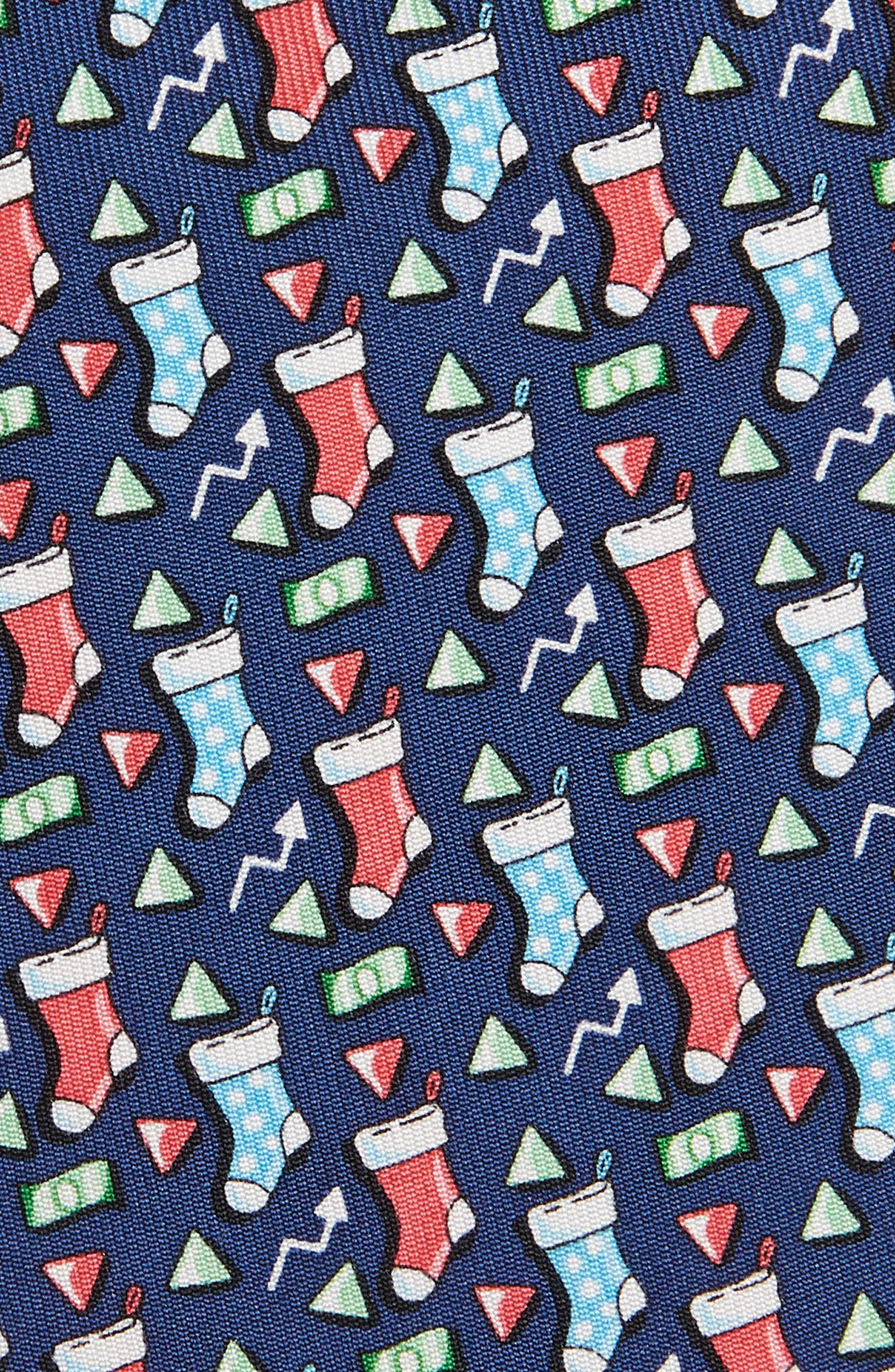 Stockings Silk Tie,                             Alternate thumbnail 2, color,                             NAVY