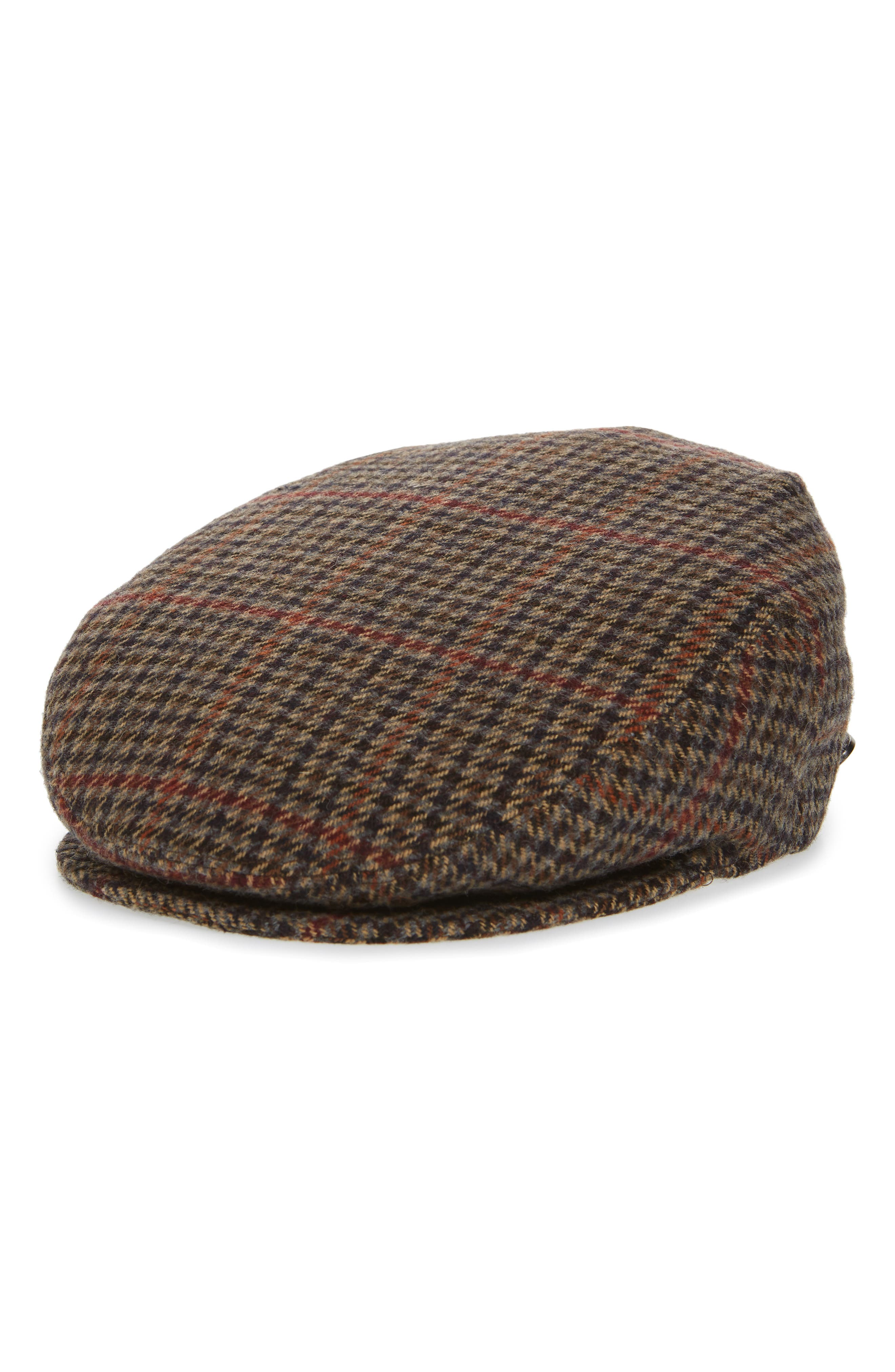 Lord Houndstooth Wool Driving Cap,                             Main thumbnail 1, color,                             001