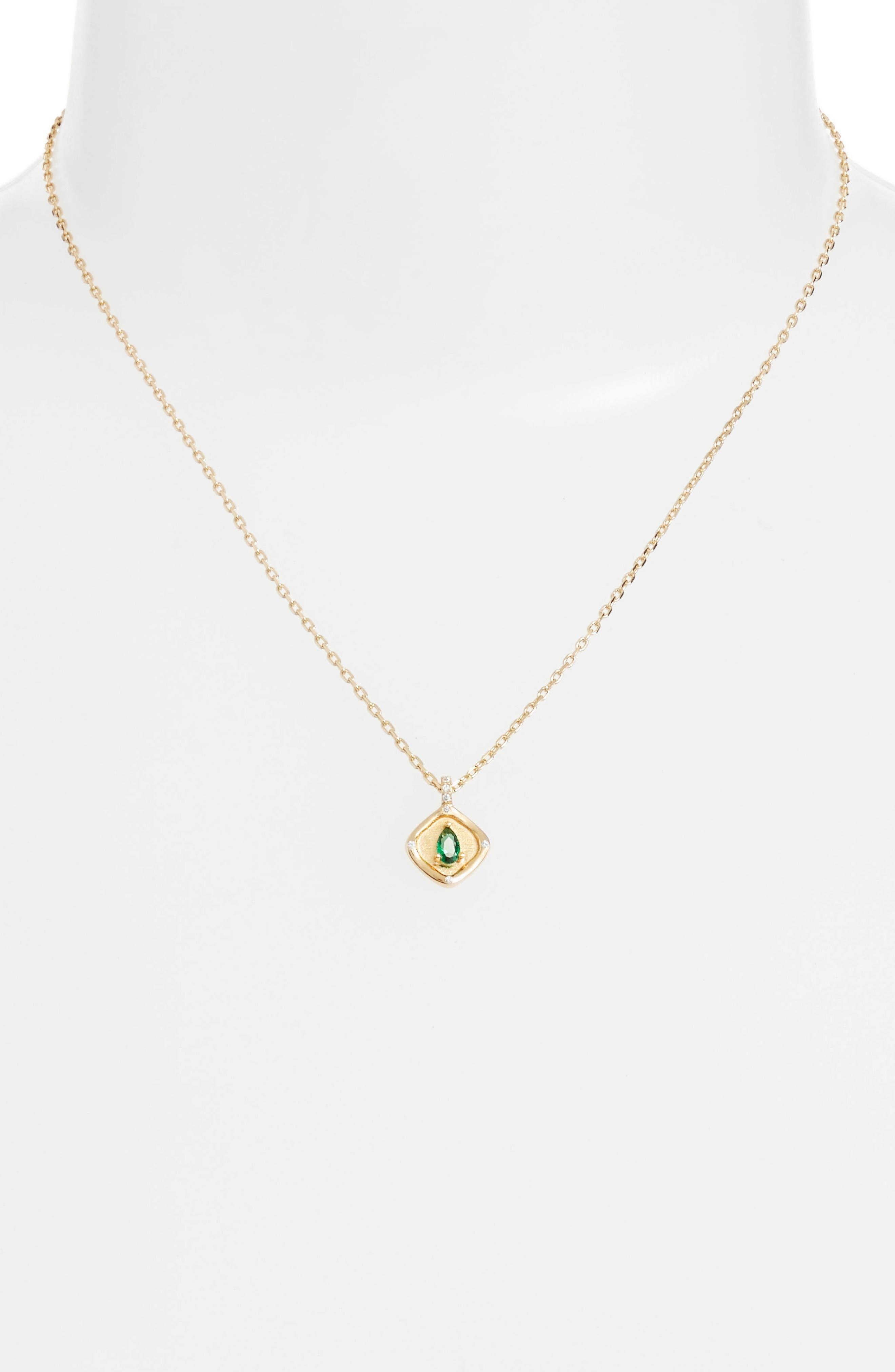 Teardrop Monthstone Pendant Necklace,                             Alternate thumbnail 2, color,                             300