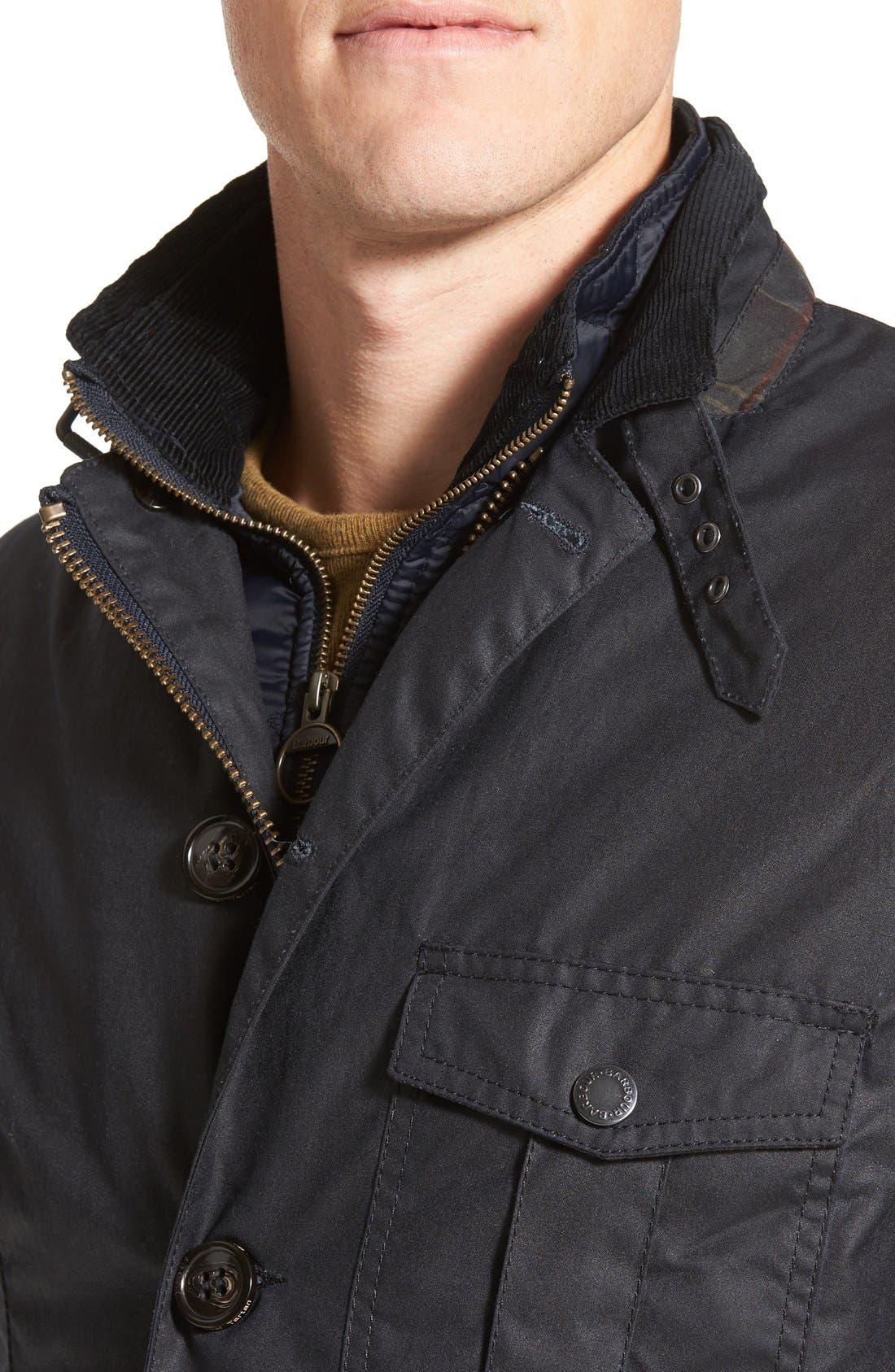 Torridon Wax Jacket with Bib,                             Alternate thumbnail 4, color,                             410