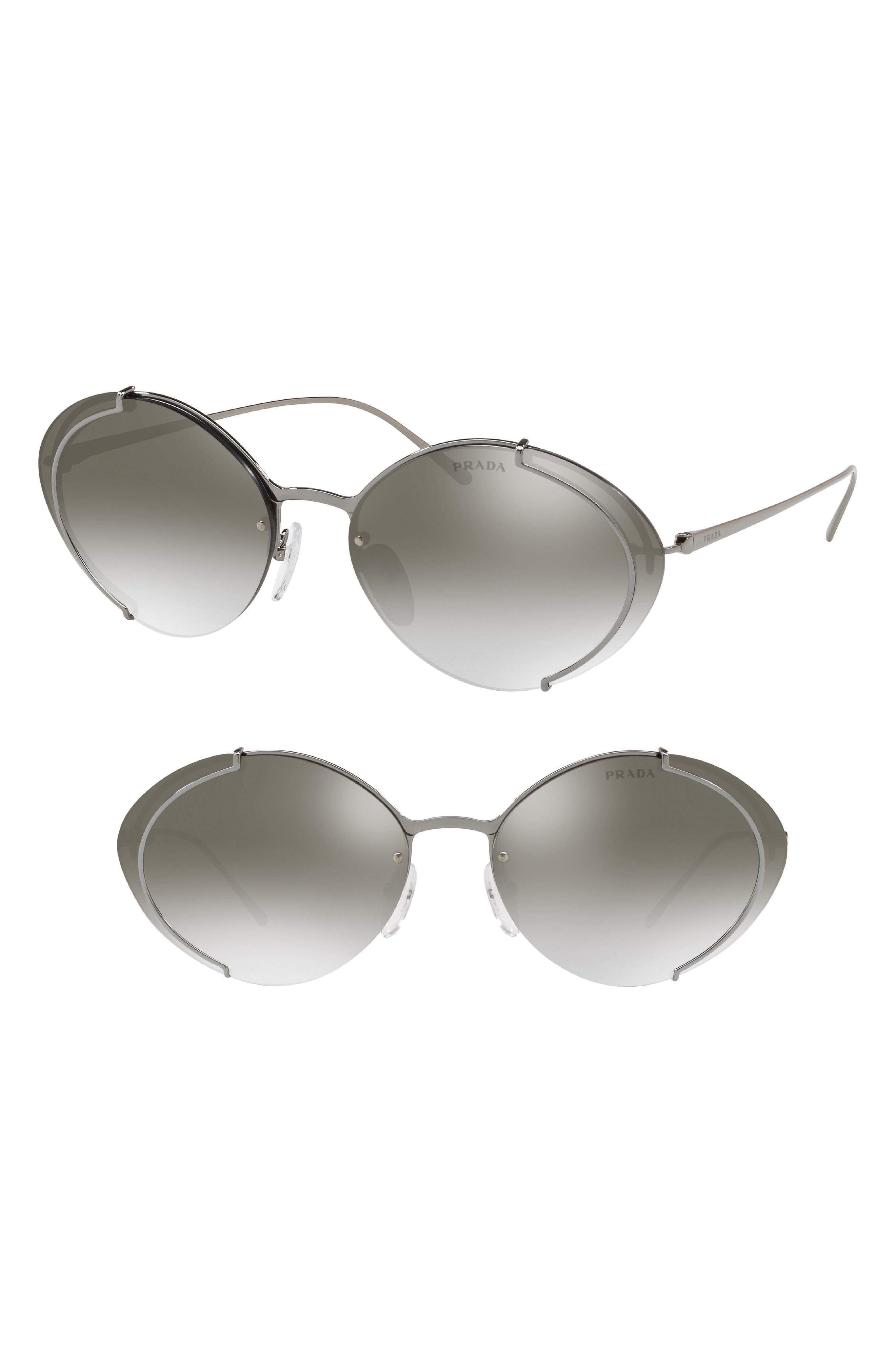 Evolution 63mm Oversize Rimless Oval Sunglasses,                             Main thumbnail 1, color,                             040
