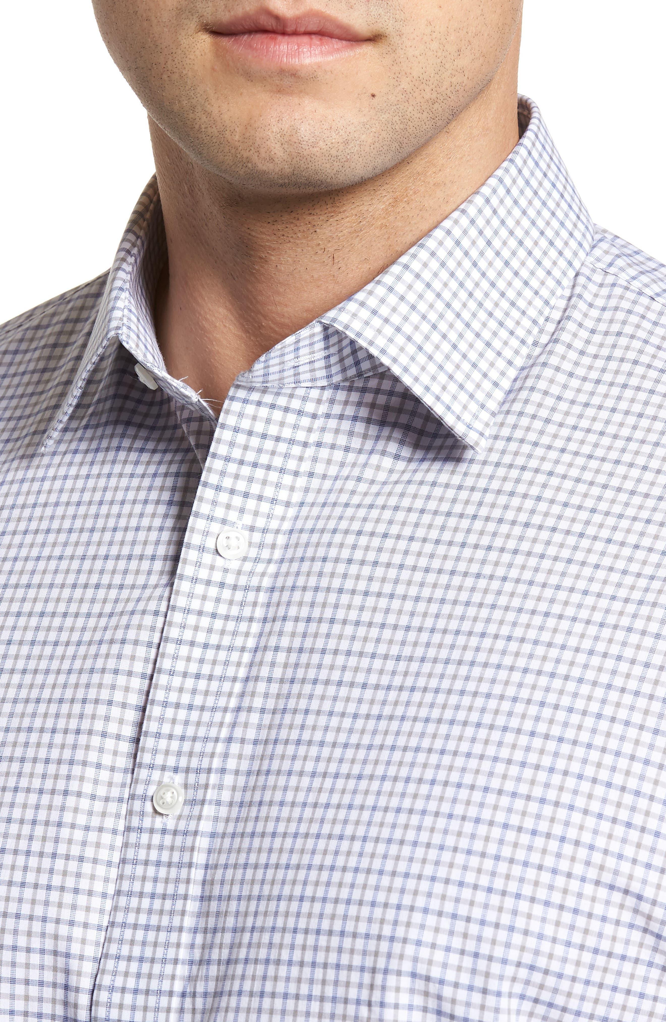 Classic Fit Check Dress Shirt,                             Alternate thumbnail 2, color,                             050