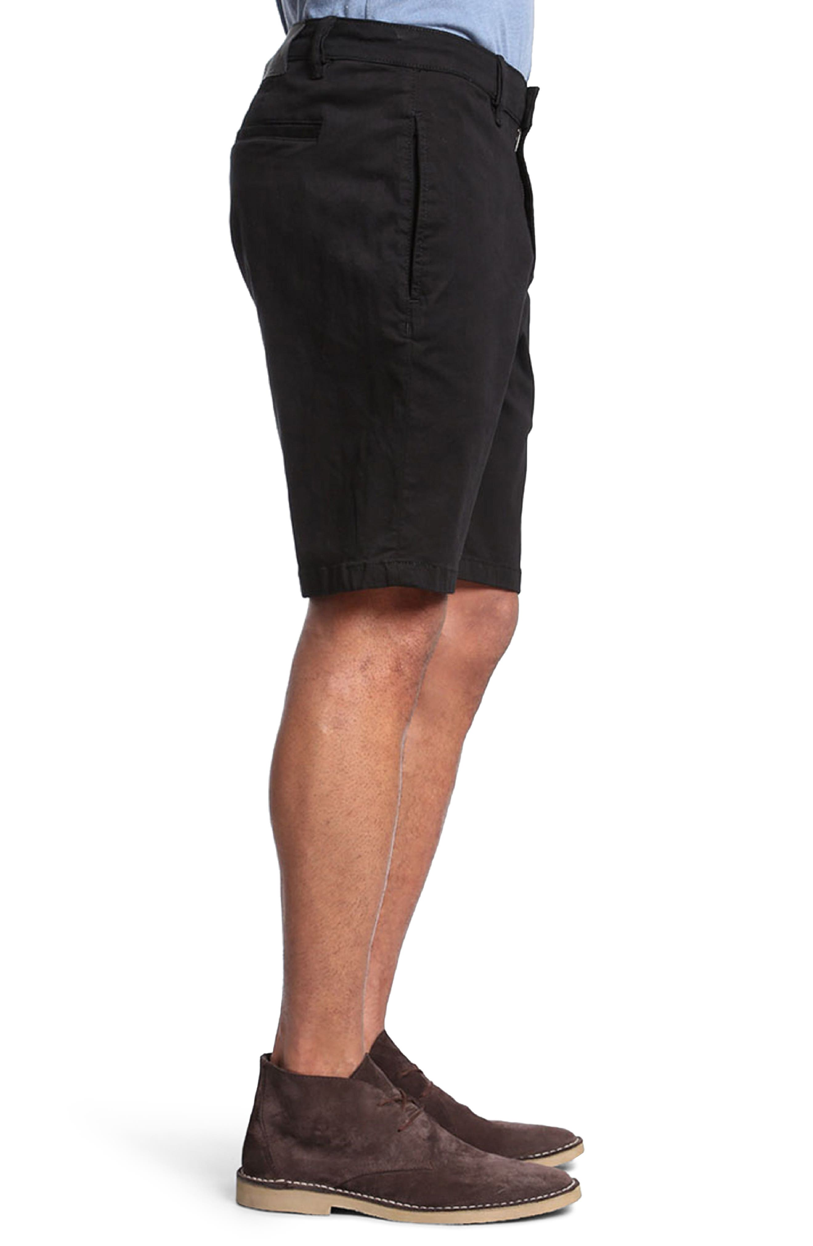 Nevada Twill Shorts,                             Alternate thumbnail 3, color,                             BLACK TWILL