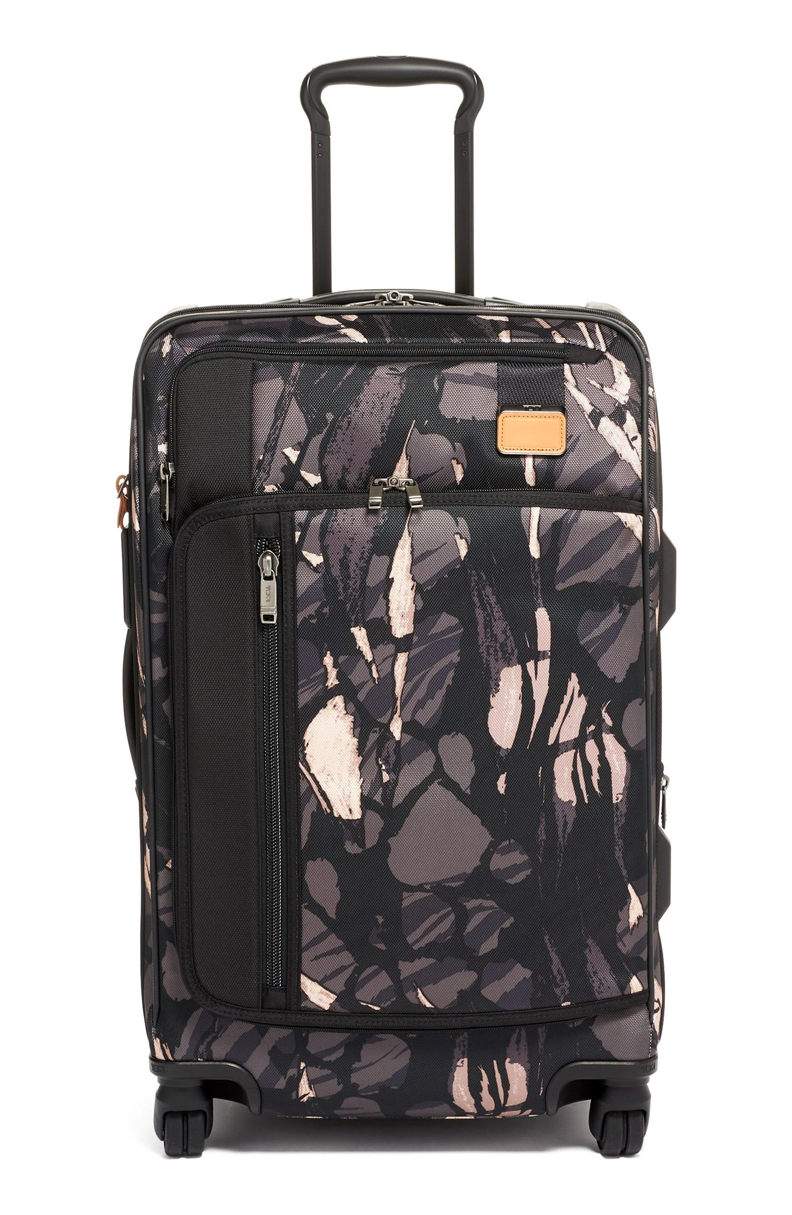 Merge Short Trip Expandable Rolling Packing Case, Main, color, GREY HIGHLANDS PRINT
