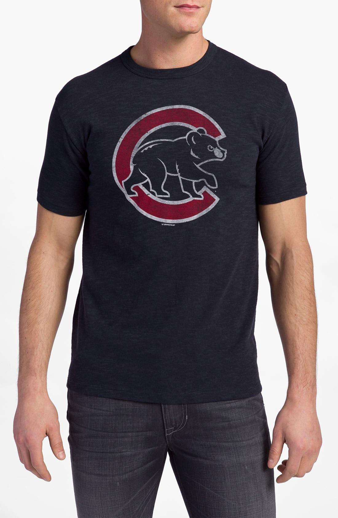 'Chicago Cubs' Regular Fit Crewneck T-Shirt,                             Main thumbnail 24, color,