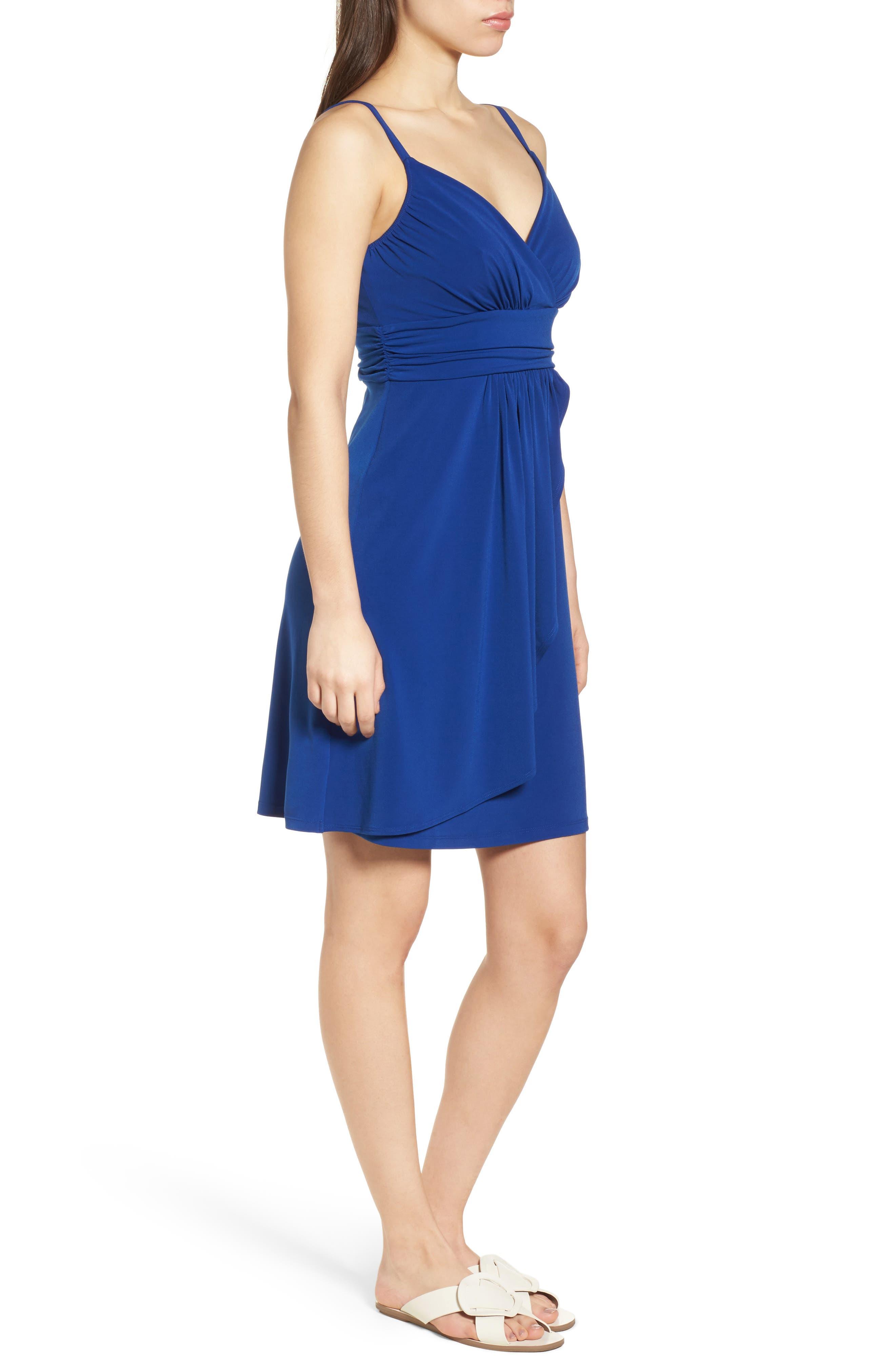 Elenna Stretch Jersey Sundress,                             Alternate thumbnail 3, color,                             DARK BLUE