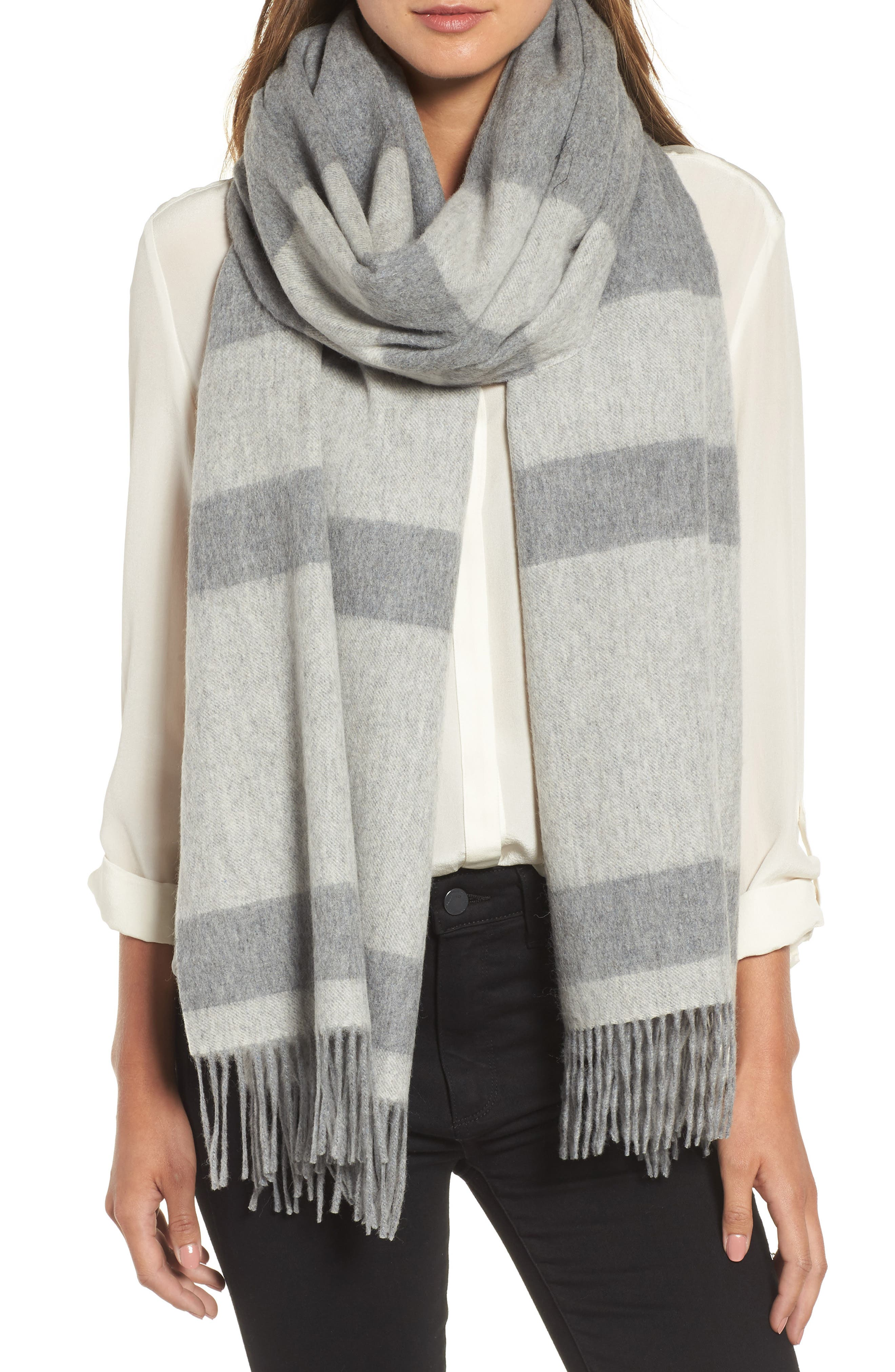 Lazio Stripe Wool Scarf,                         Main,                         color, 020