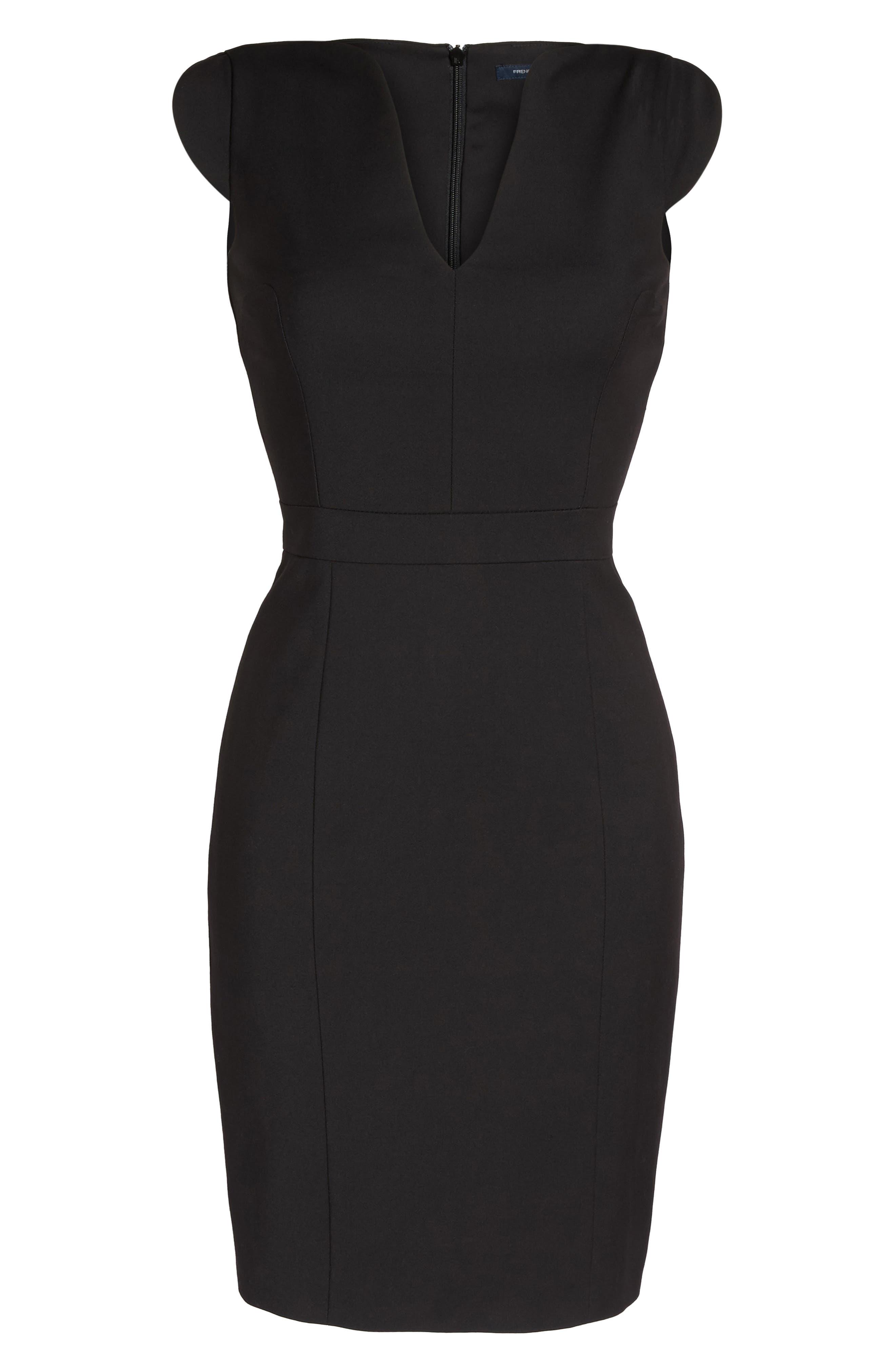 'Lolo' Stretch Sheath Dress,                             Alternate thumbnail 8, color,                             BLACK
