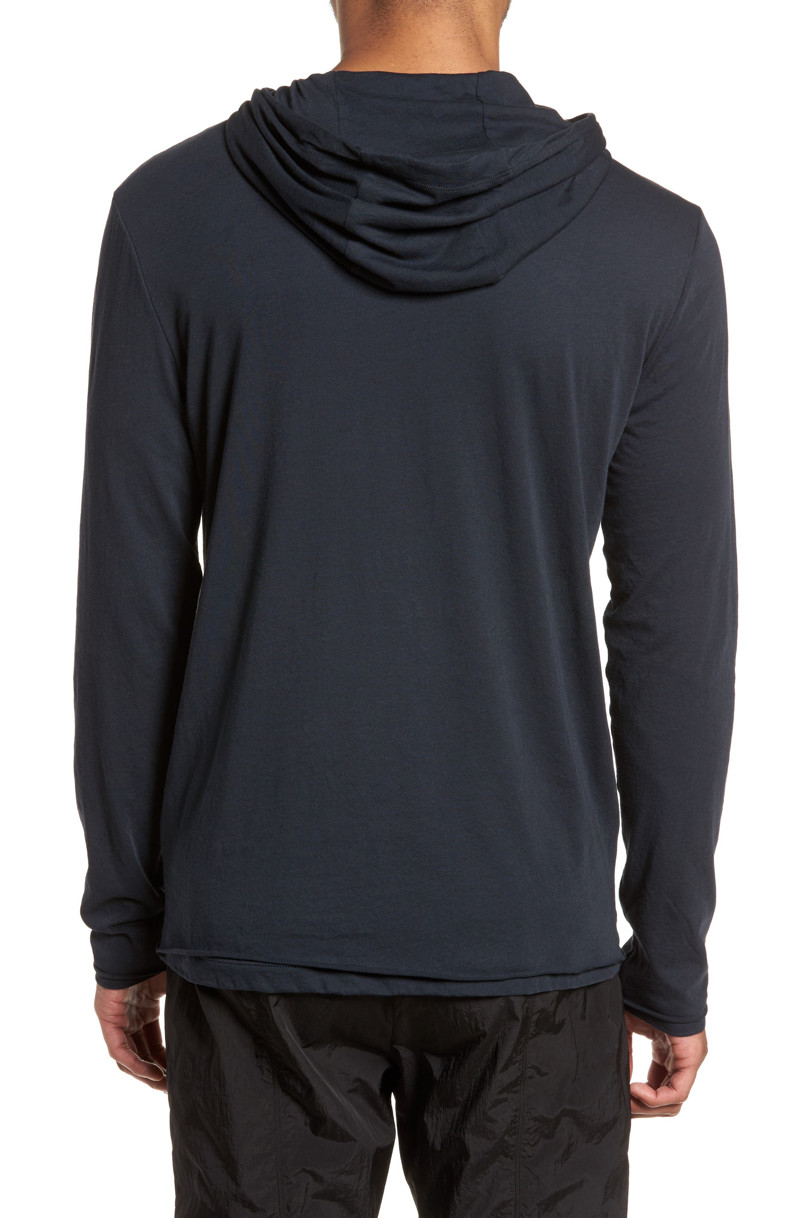 Layered Long Sleeve Pullover Hoodie,                             Alternate thumbnail 6, color,