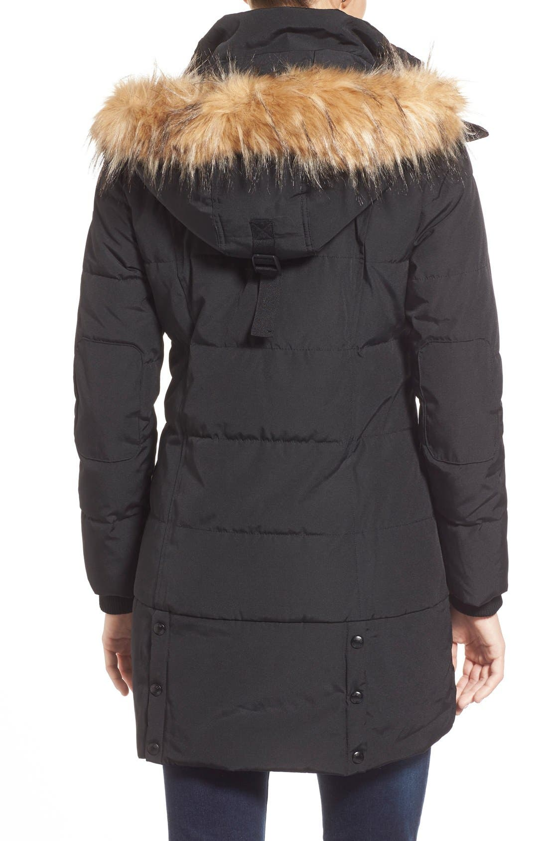 'Expedition' Quilted Parka with Faux Fur Trim,                             Alternate thumbnail 7, color,