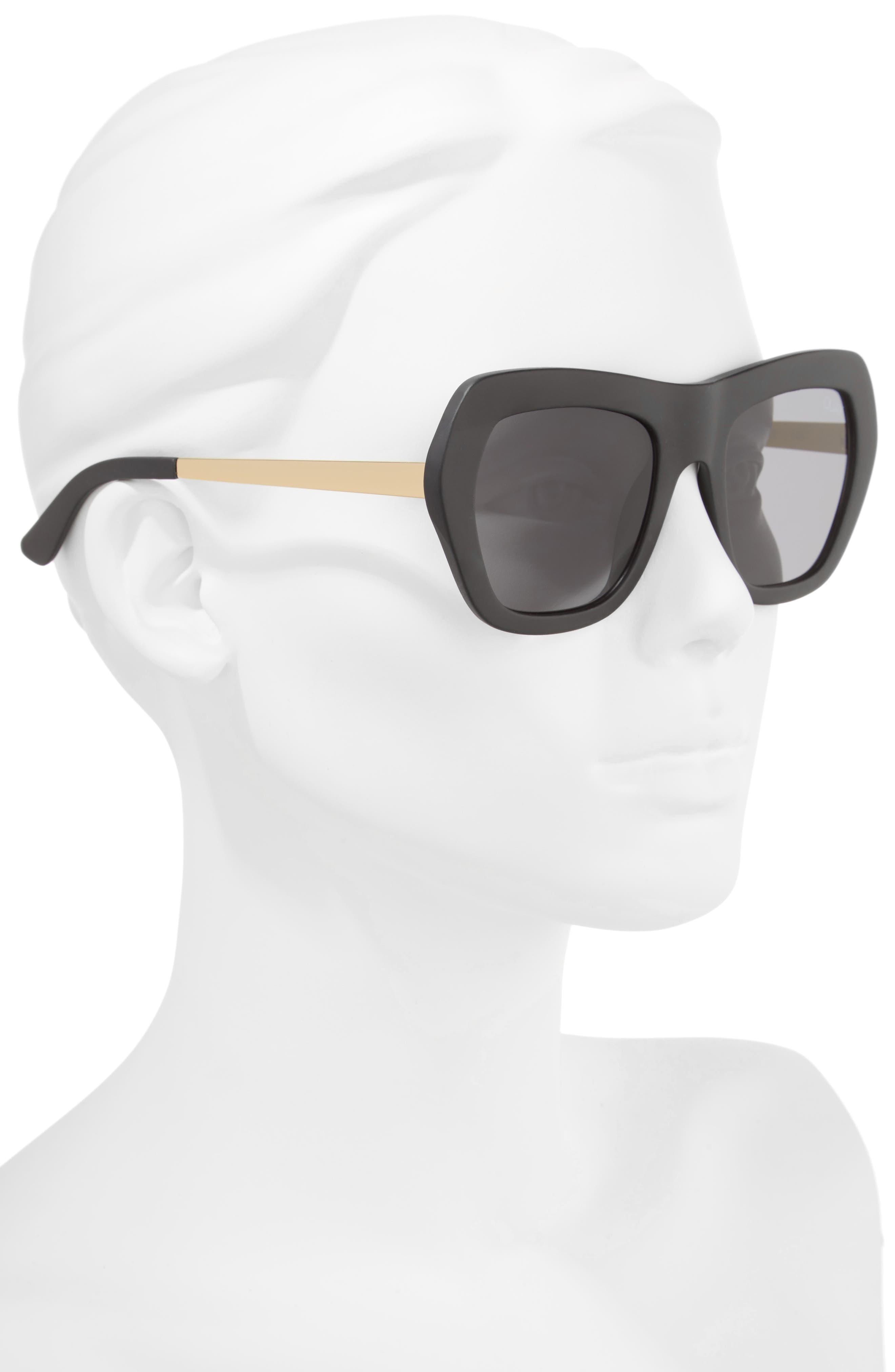 Common Love 53mm Square Sunglasses,                             Alternate thumbnail 3, color,