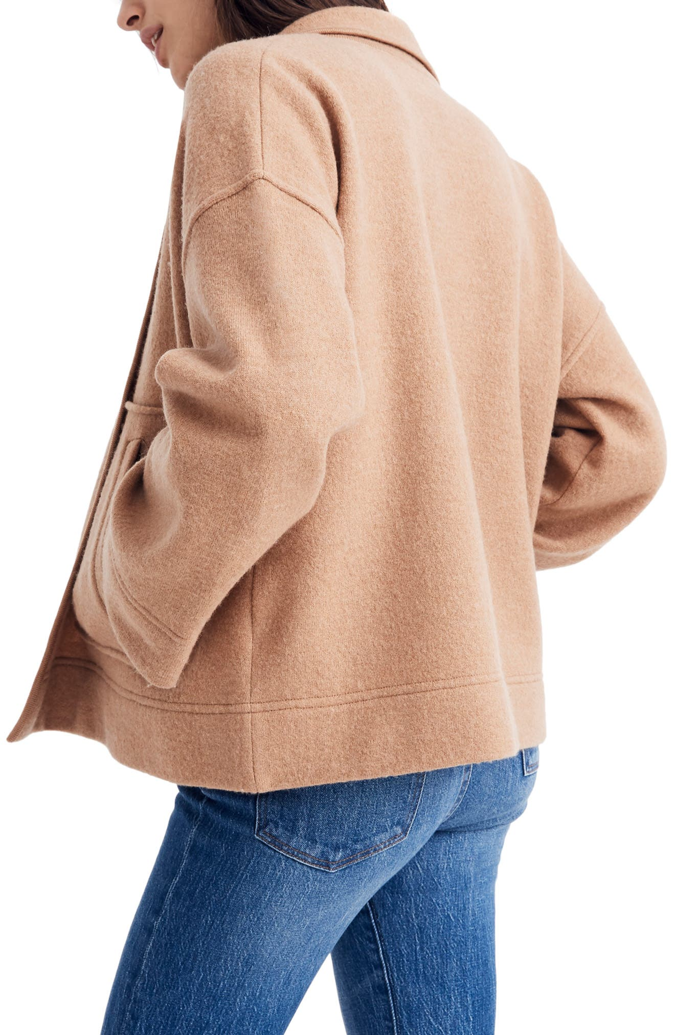 MADEWELL,                             Lisbon Sweater Jacket,                             Alternate thumbnail 2, color,                             HEATHER FAWN