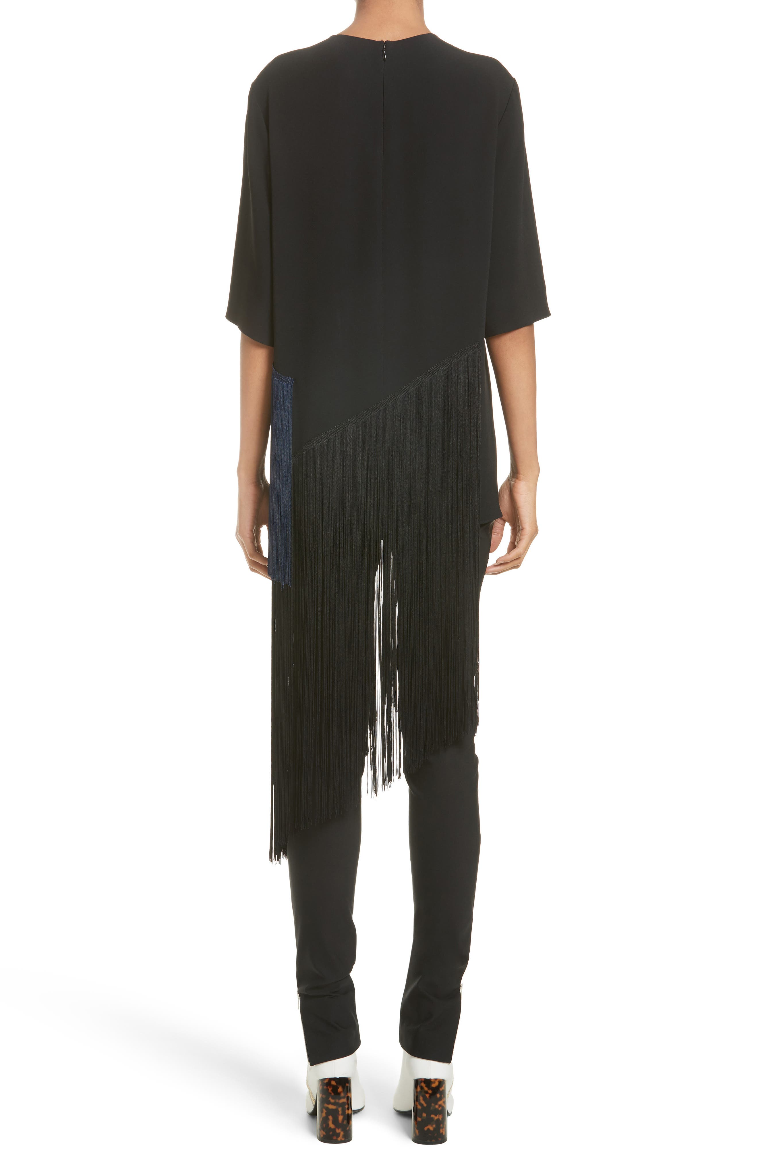 Stretch Cady Fringe Top,                             Alternate thumbnail 2, color,