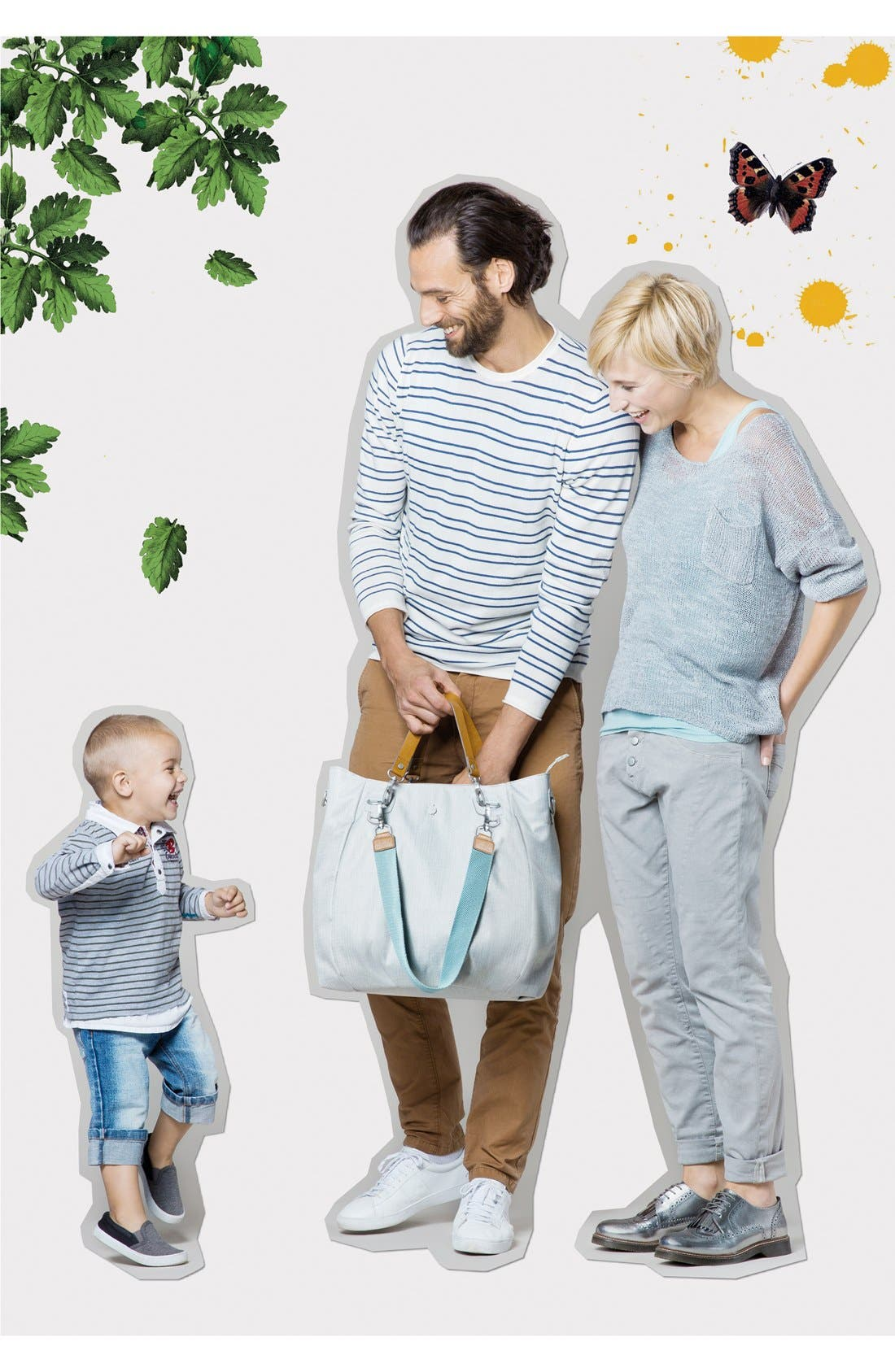 'Green Label - Mix 'N Match' Diaper Bag,                             Alternate thumbnail 3, color,                             LIGHT GREY
