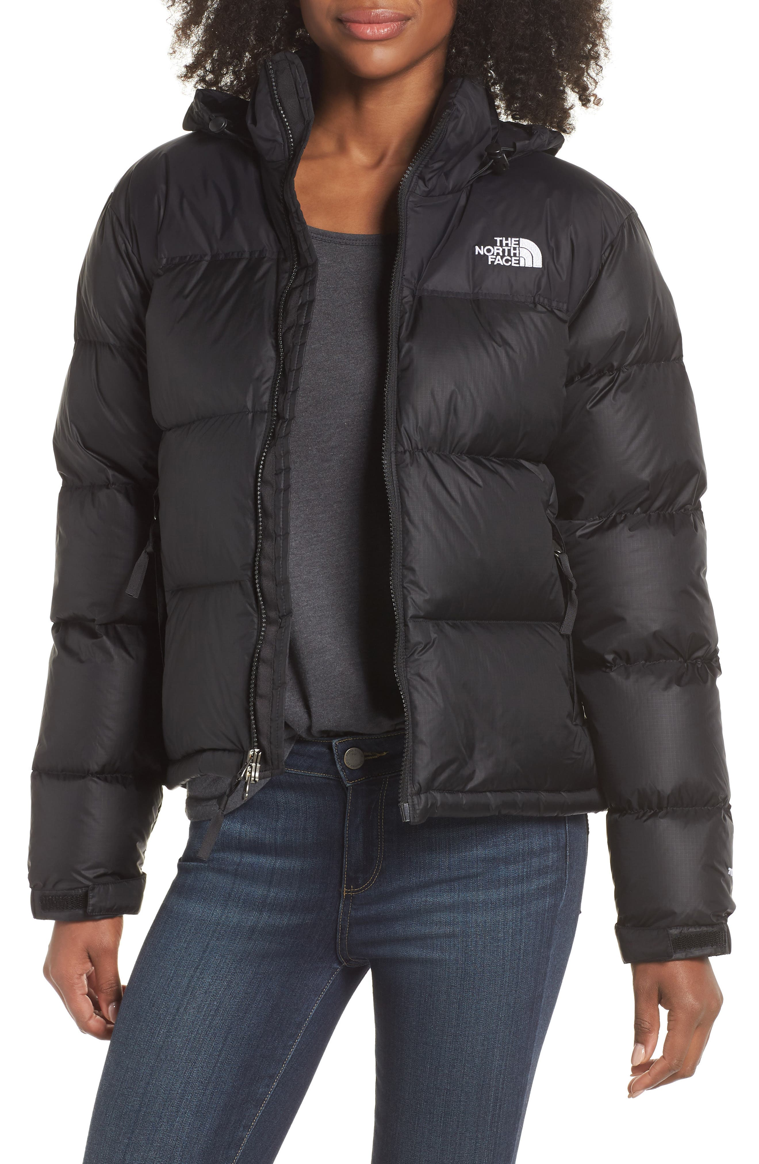 Nuptse 1996 Packable Quilted Down Jacket,                             Main thumbnail 1, color,                             TNF BLACK
