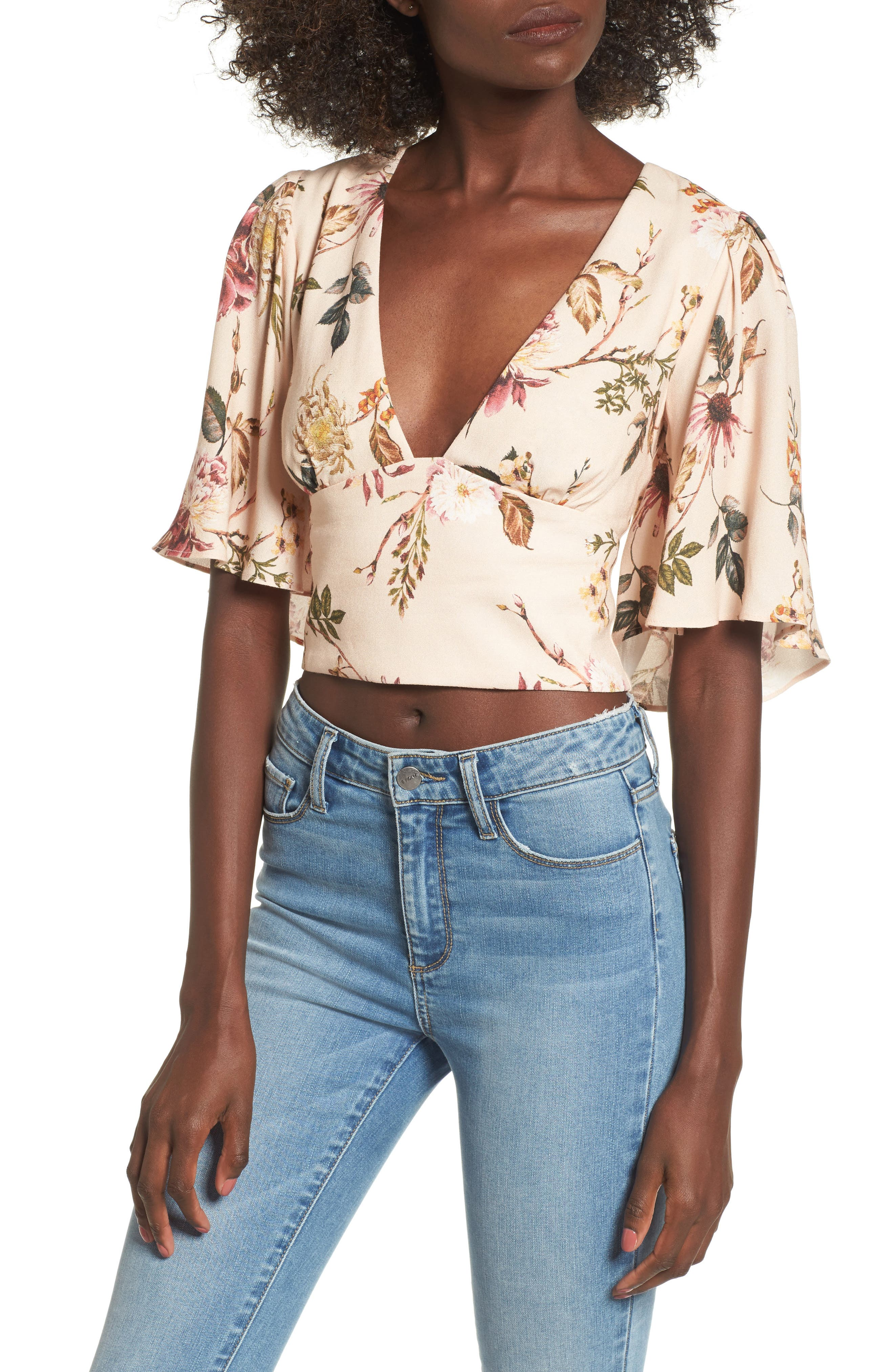 Electra Flutter Sleeve Top,                             Main thumbnail 4, color,