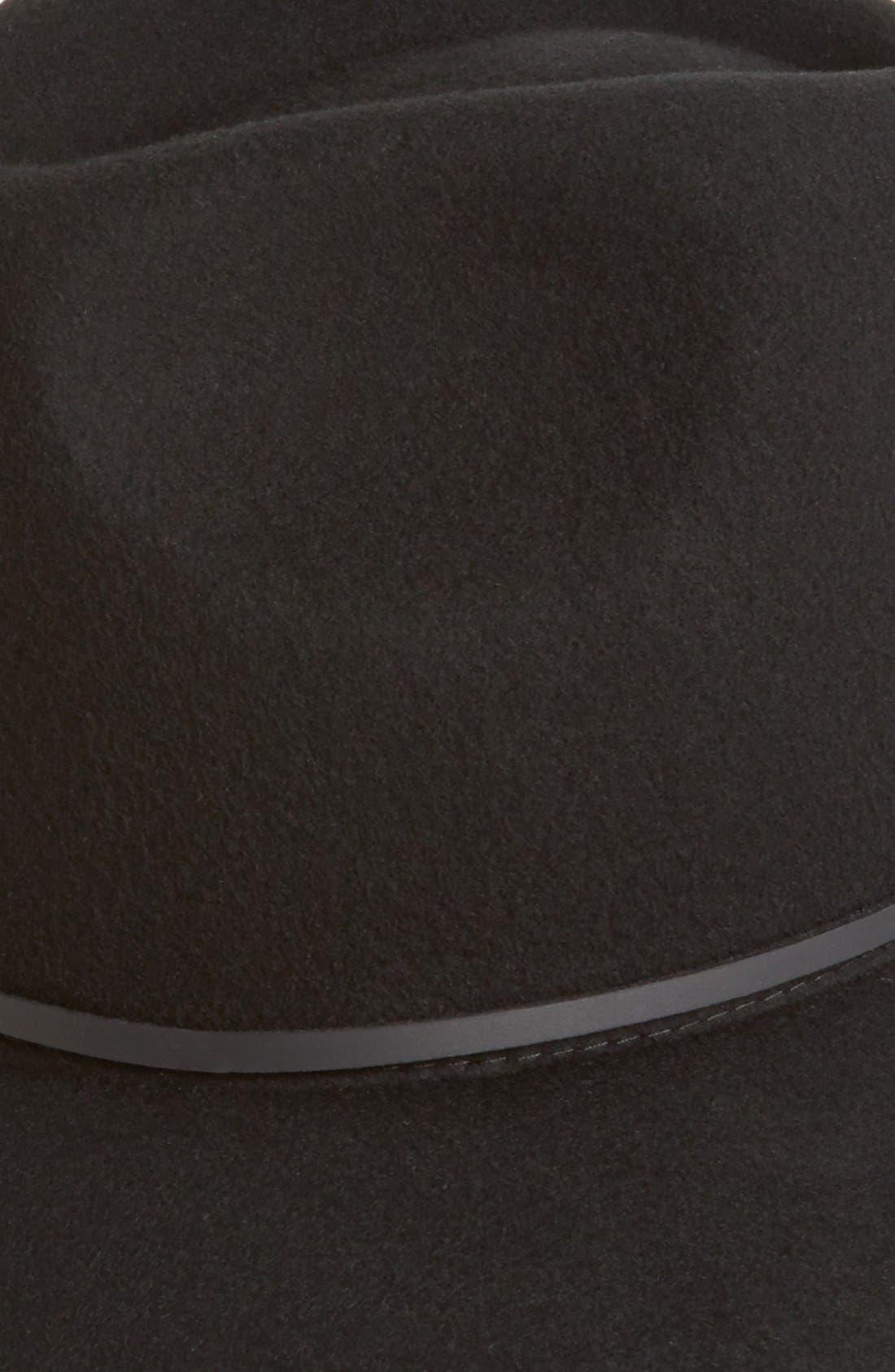 BRIXTON,                             'Wesley' WoolFedora,                             Alternate thumbnail 5, color,                             BLACK