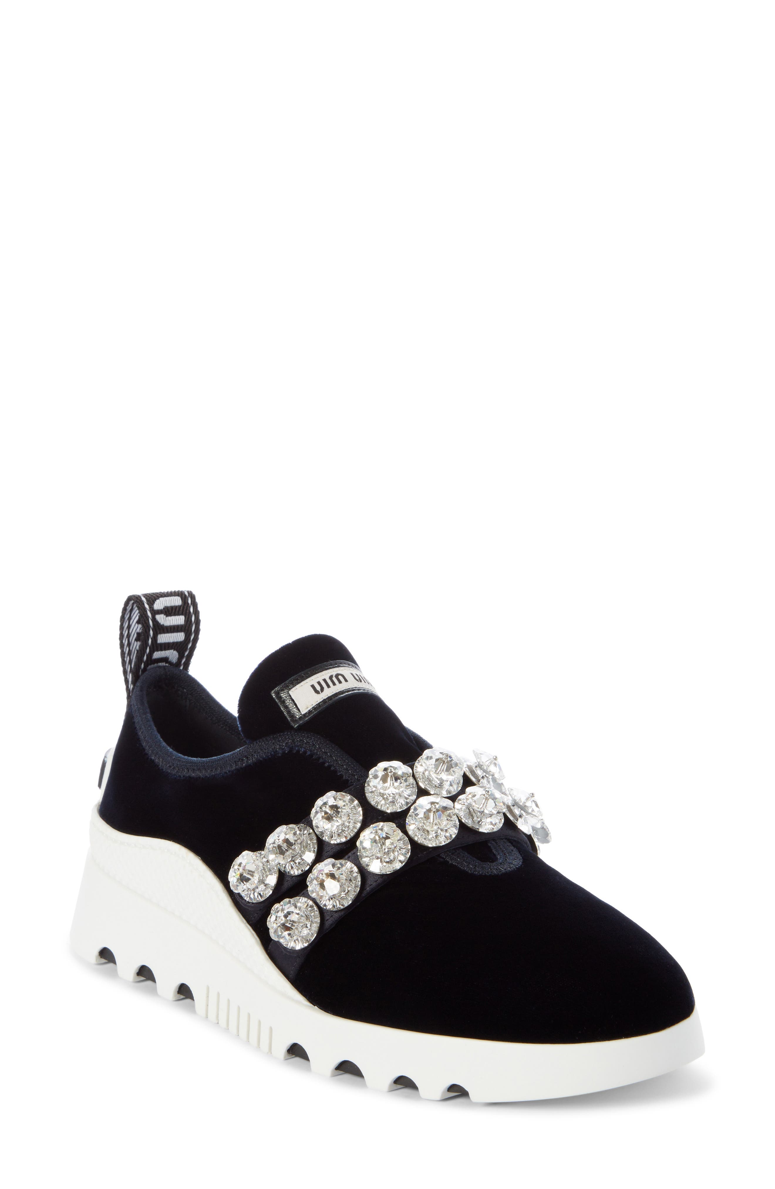 Jewel Strap Slip-On Sneaker, Main, color, BLUE