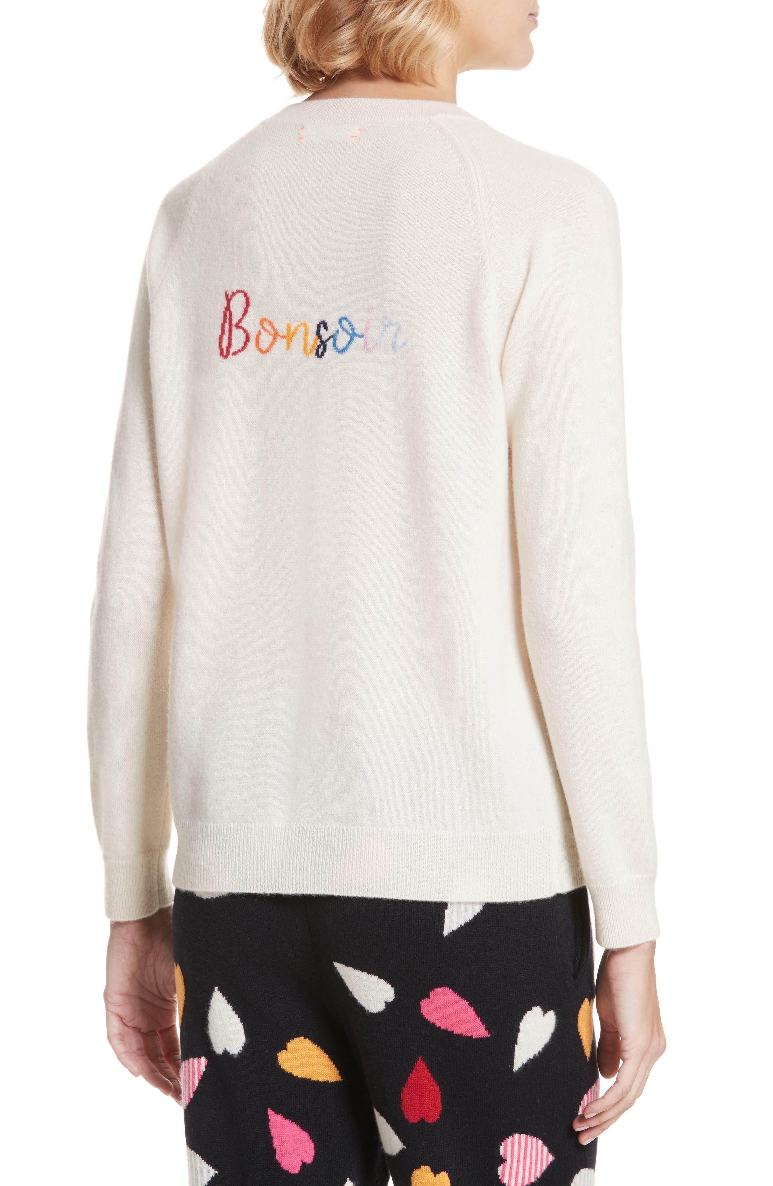 CHINTI & PARKER Bonjour/Bonsoir Cashmere Sweater,                             Alternate thumbnail 2, color,                             900