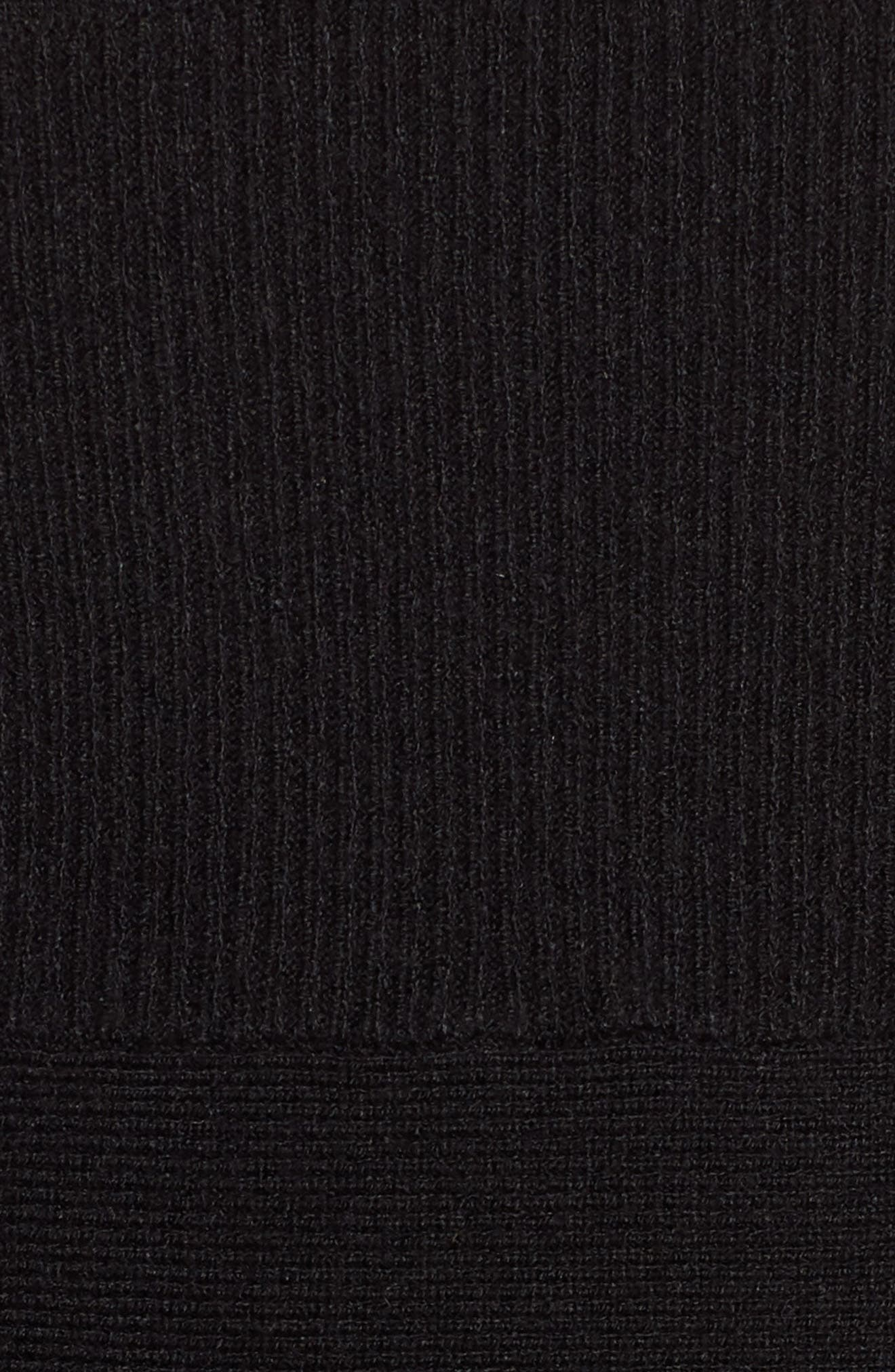 Midi Body-Con Dress,                             Alternate thumbnail 6, color,                             001