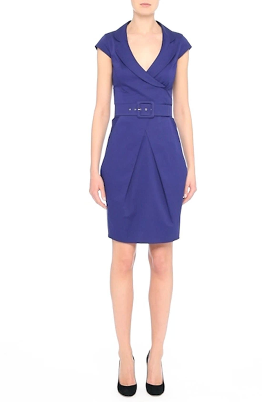 Belted Sheath Dress,                             Alternate thumbnail 7, color,
