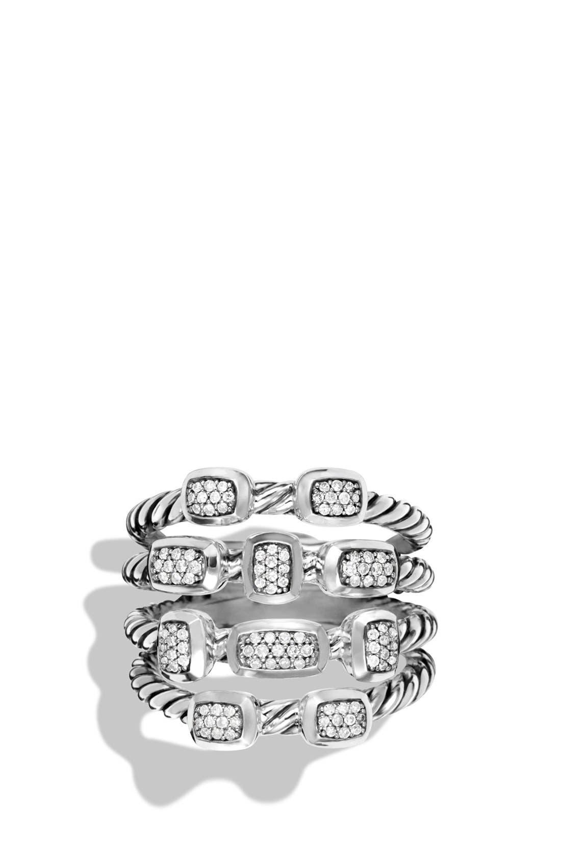 'Confetti' Ring with Diamonds,                             Main thumbnail 1, color,                             DIAMOND