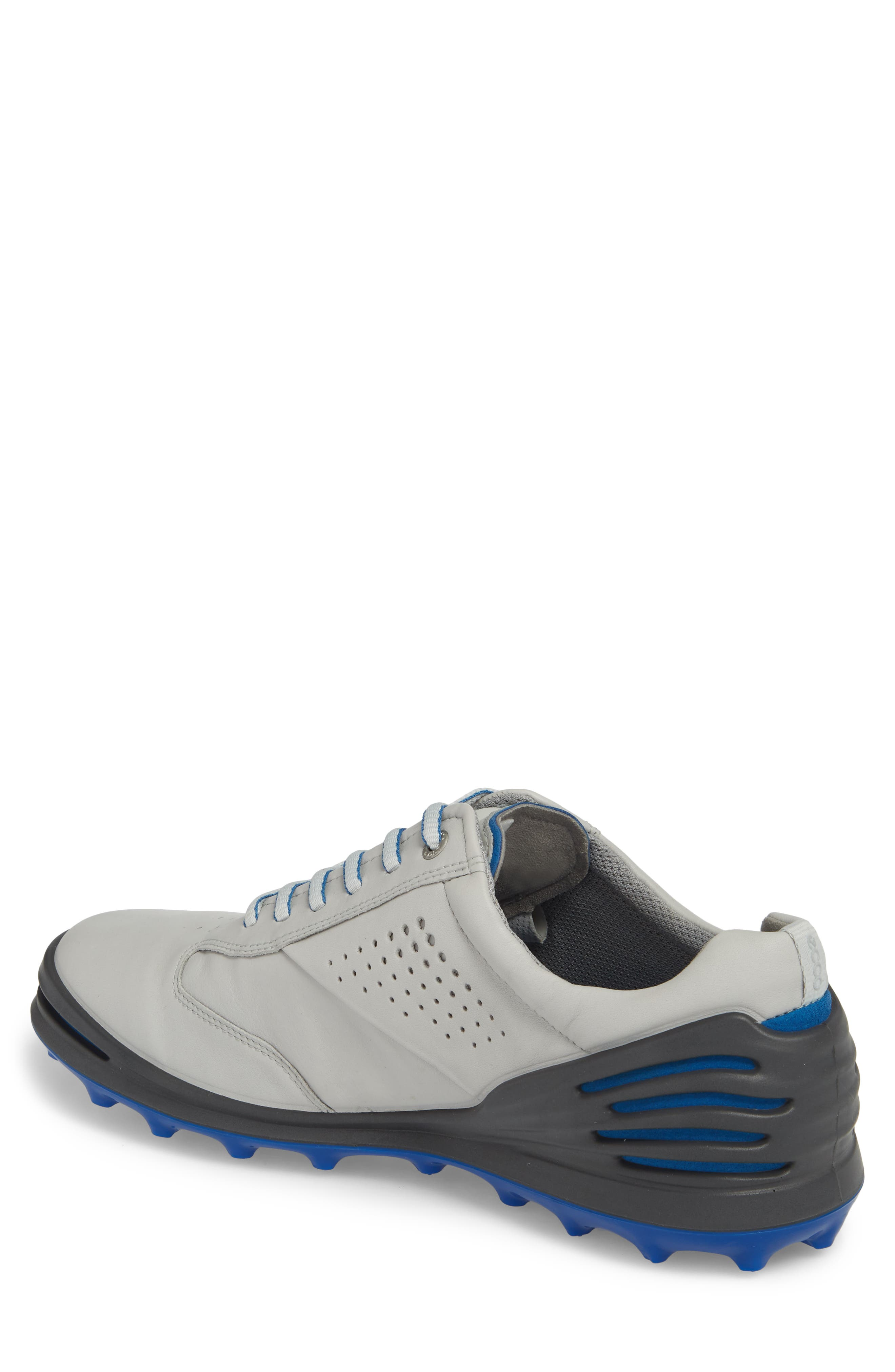 Cage Pro Golf Shoe,                             Alternate thumbnail 2, color,                             CONCRETE/ BERMUDA BLUE LEATHER