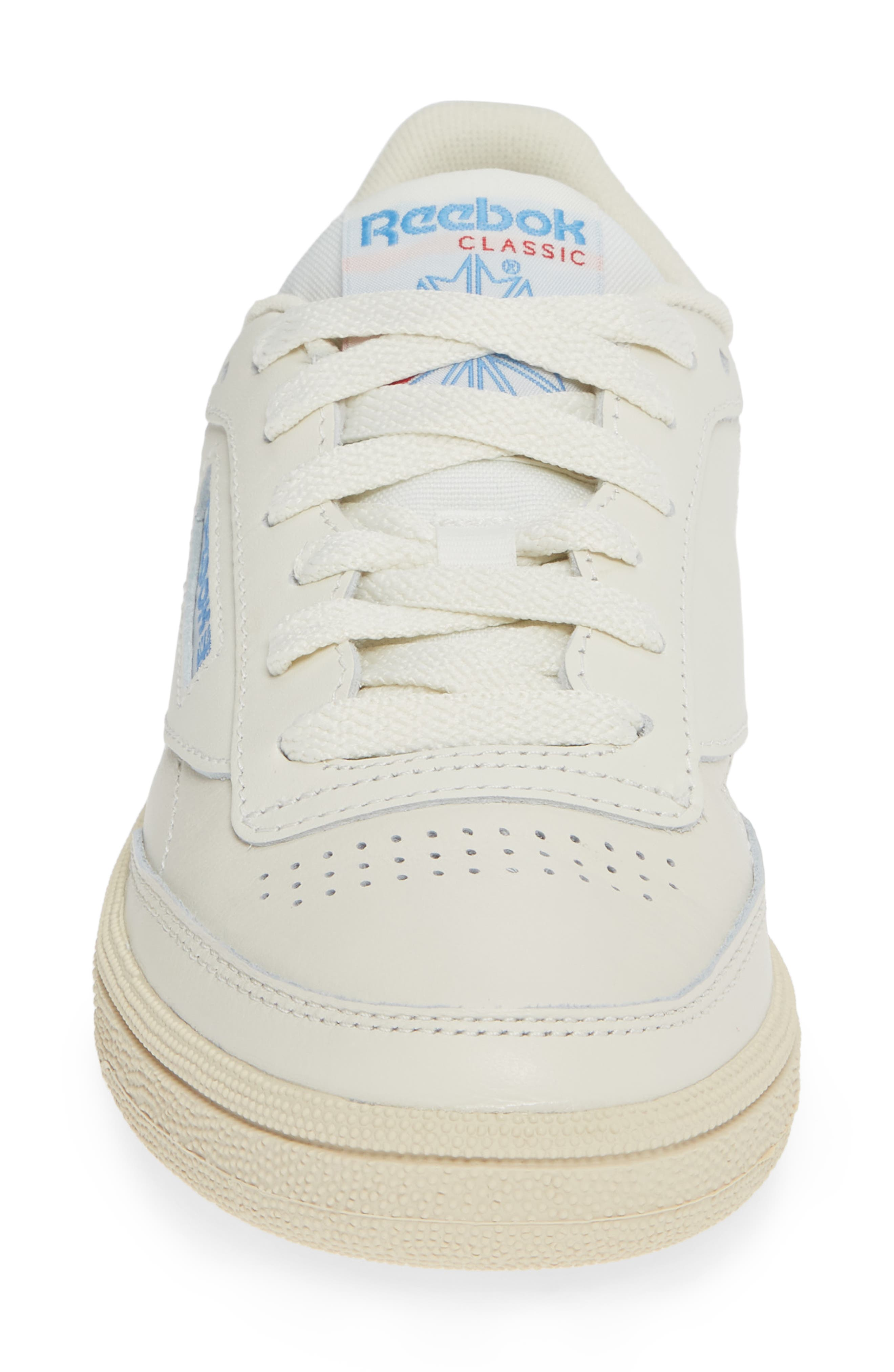 Club C 85 Sneaker,                             Alternate thumbnail 4, color,                             CHALK/ WHITE/ BLUE/ RED
